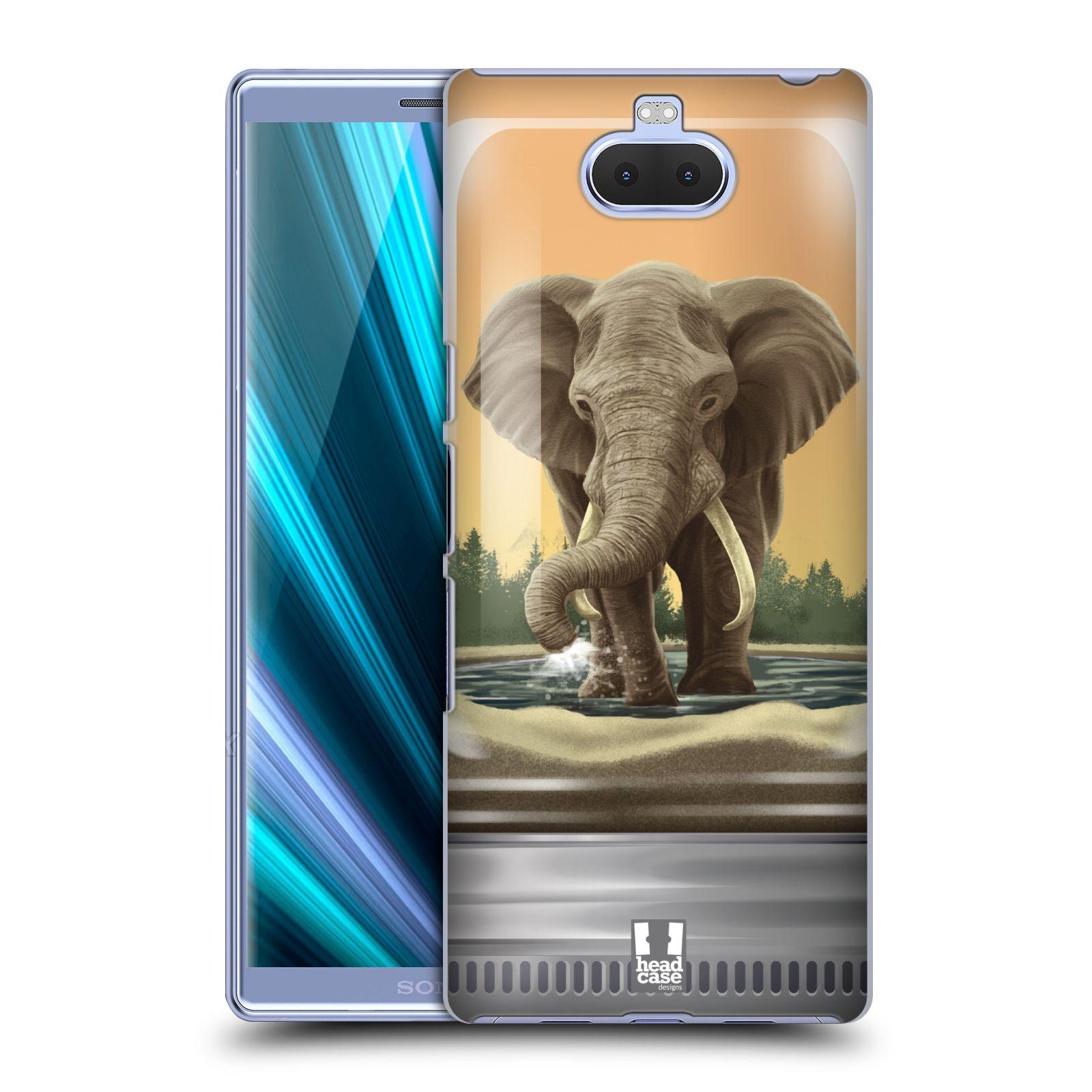 Pouzdro na mobil Sony Xperia 10 - Head Case - vzor Zvířátka v těžítku slon