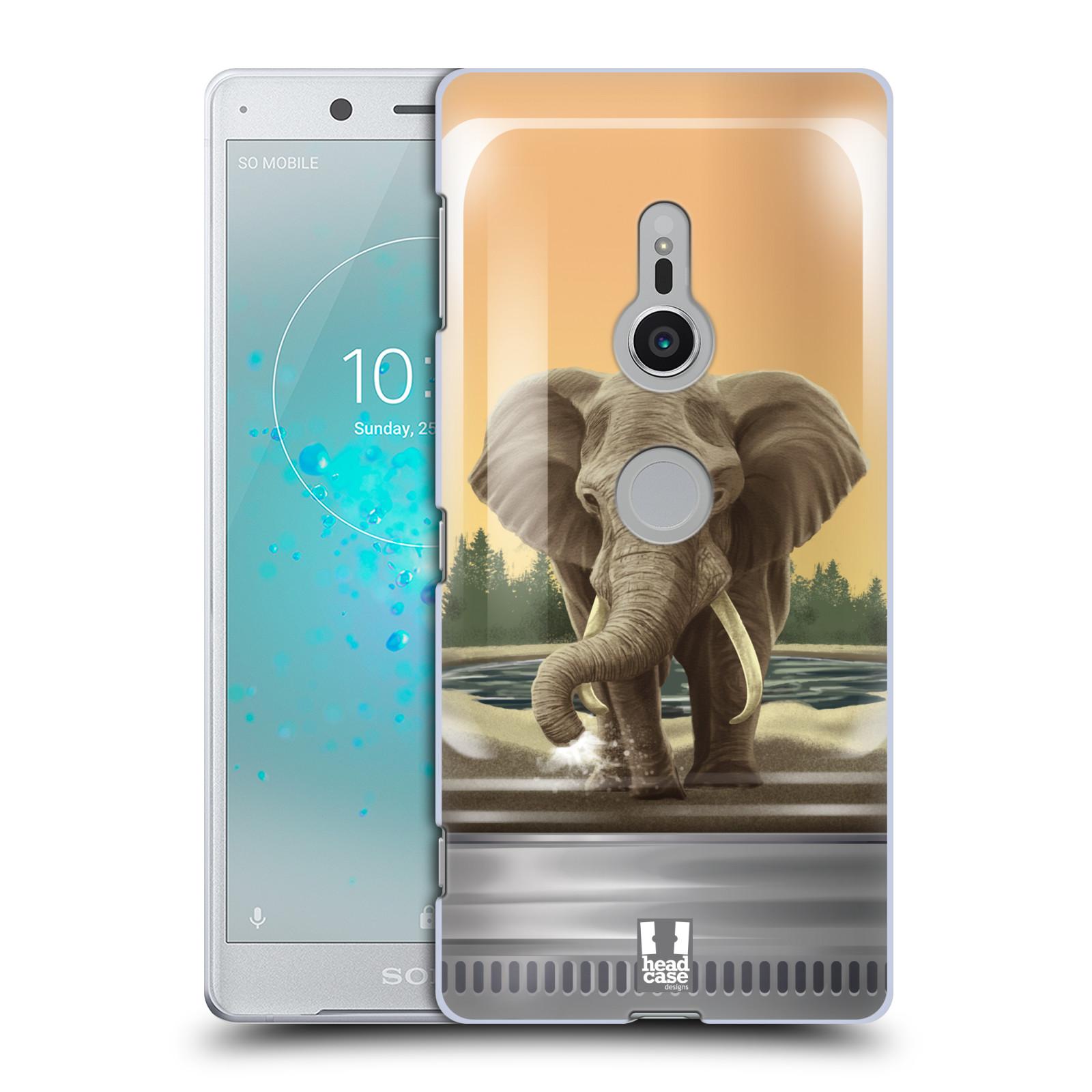 HEAD CASE plastový obal na mobil Sony Xperia XZ2 vzor Zvířátka v těžítku slon