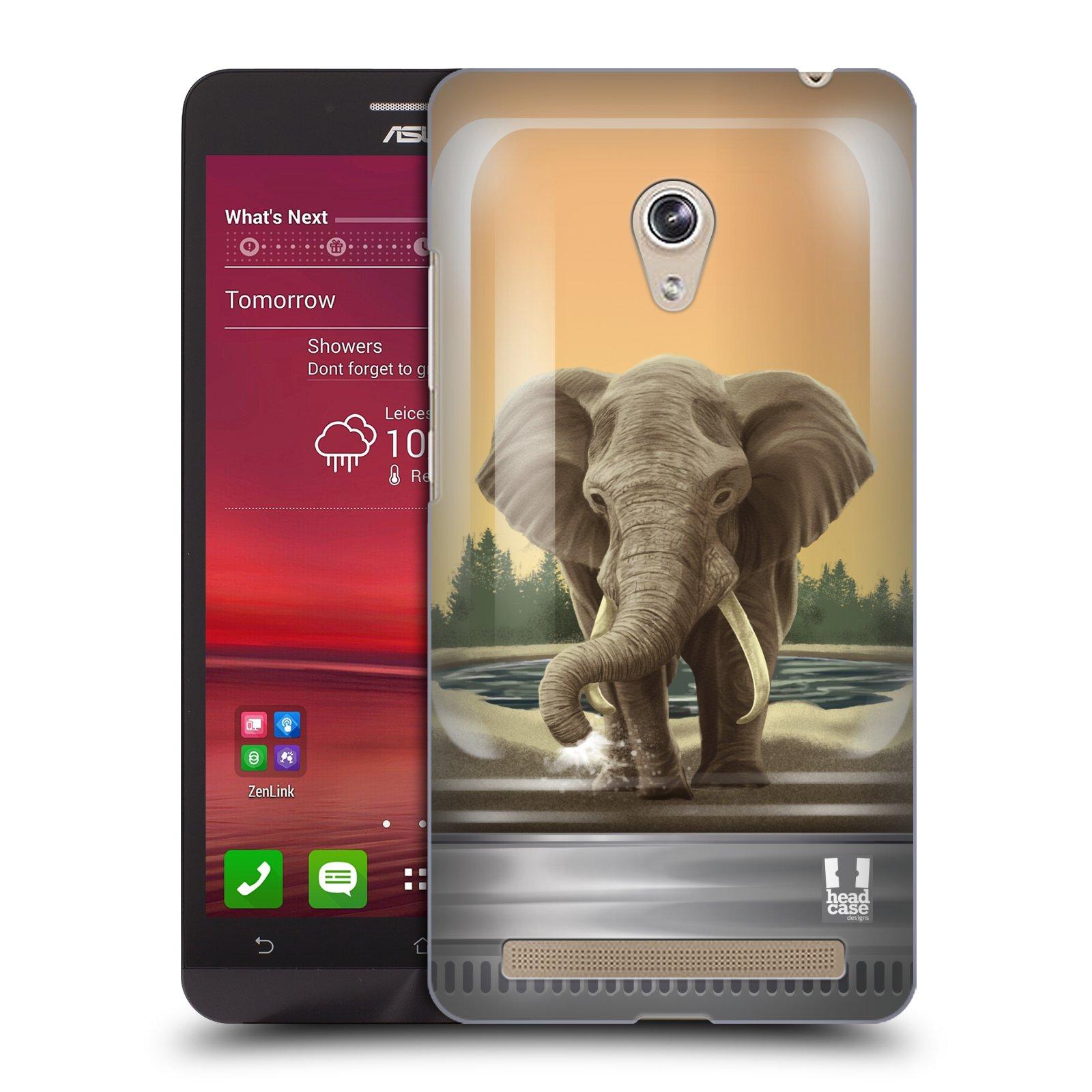 HEAD CASE plastový obal na mobil Asus Zenfone 6 vzor Zvířátka v těžítku slon