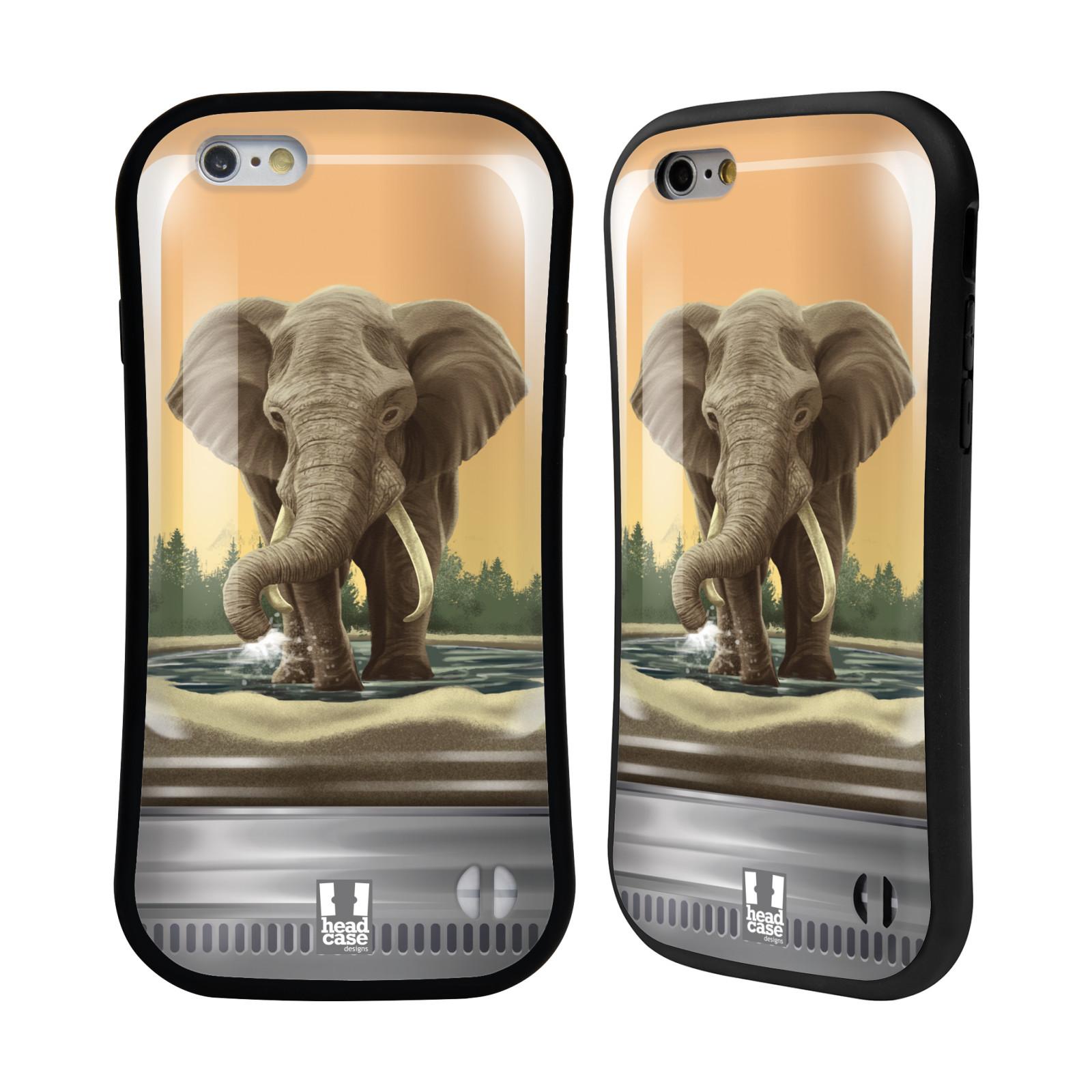 HEAD CASE silikon/plast odolný obal na mobil Apple Iphone 6/6S vzor Zvířátka v těžítku slon