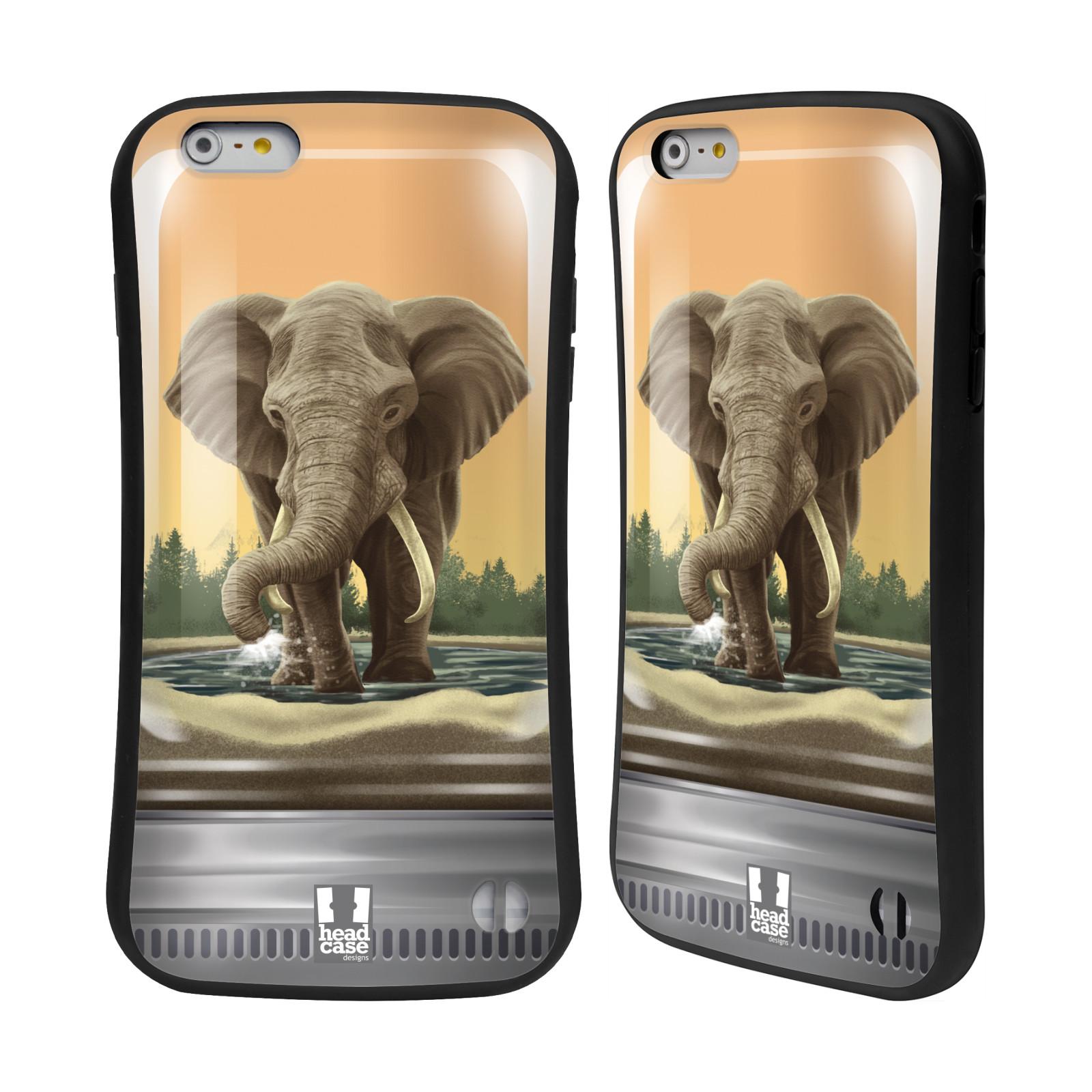 HEAD CASE silikon/plast odolný obal na mobil Apple Iphone 6 PLUS / 6S PLUS vzor Zvířátka v těžítku slon