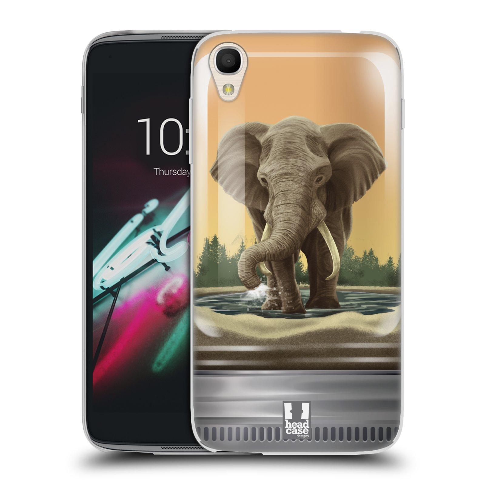 HEAD CASE silikonový obal na mobil Alcatel Idol 3 OT-6039Y (4.7) vzor Zvířátka v těžítku slon
