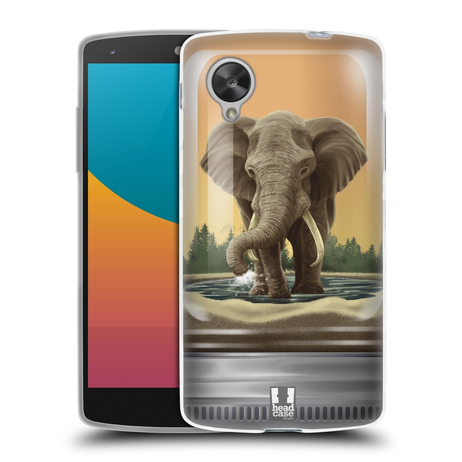 HEAD CASE silikonový obal na mobil LG NEXUS 5 (D821) vzor Zvířátka v těžítku slon