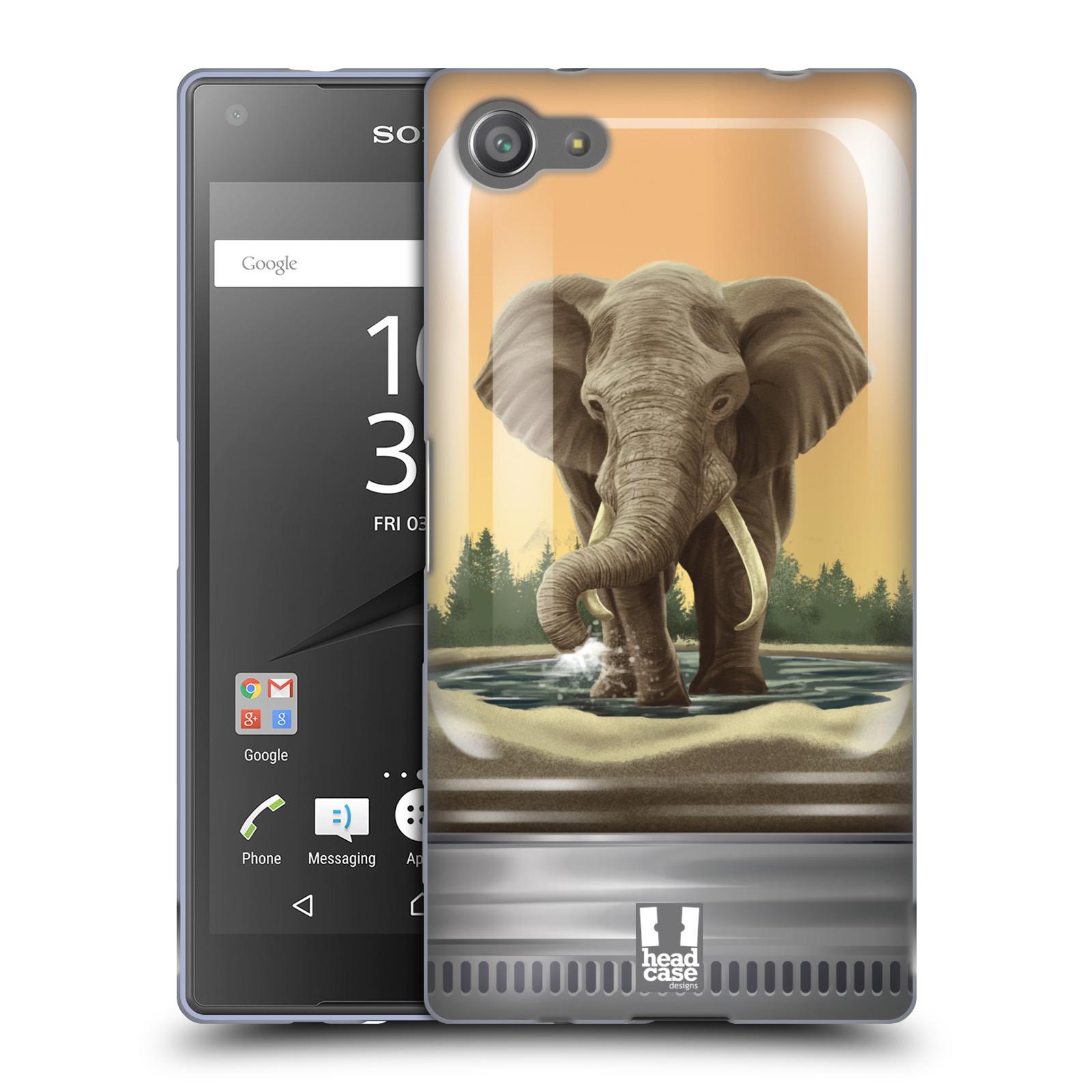 HEAD CASE silikonový obal na mobil Sony Xperia Z5 COMPACT vzor Zvířátka v těžítku slon