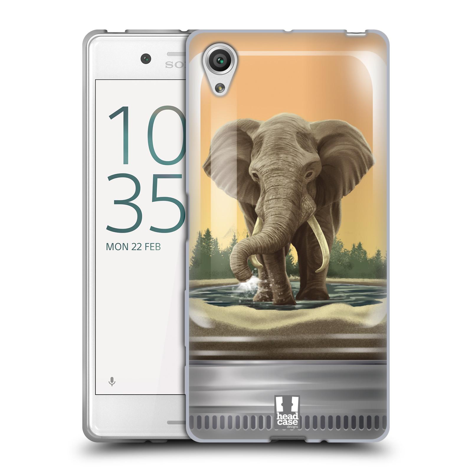HEAD CASE silikonový obal na mobil Sony Xperia X / X DUAL vzor Zvířátka v těžítku slon