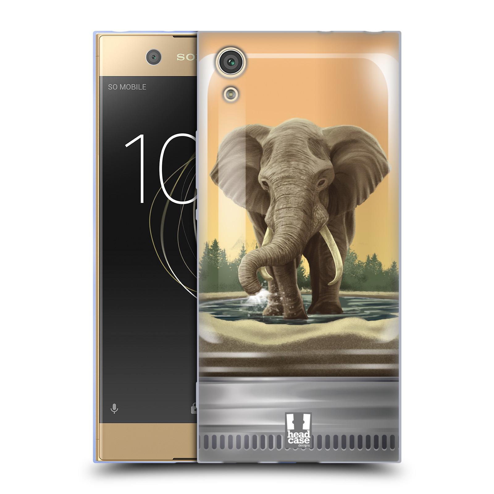 HEAD CASE silikonový obal na mobil Sony Xperia XA1 / XA1 DUAL SIM vzor Zvířátka v těžítku slon