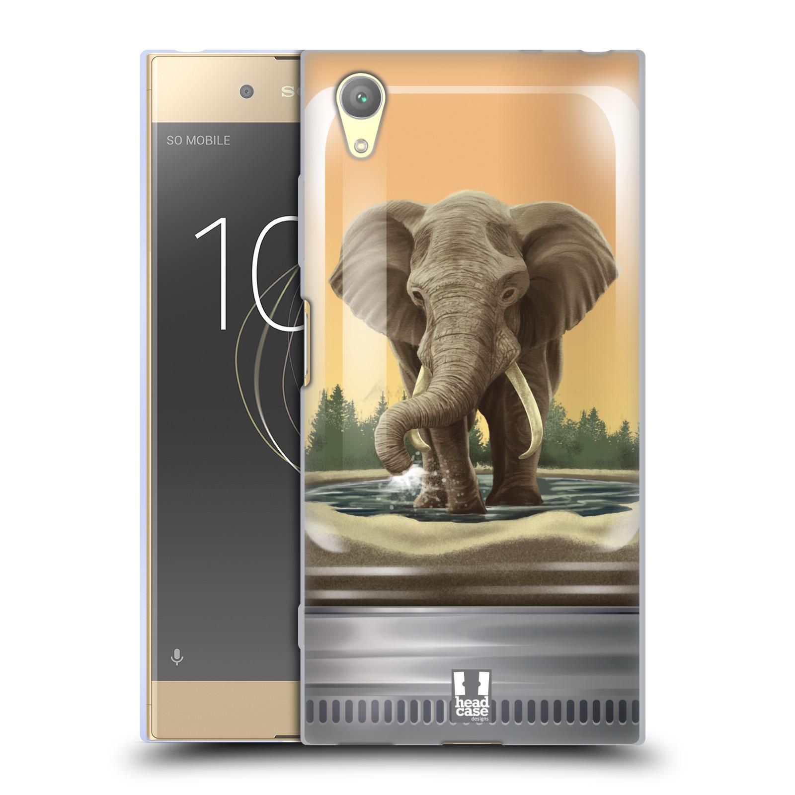 HEAD CASE silikonový obal na mobil Sony Xperia XA1 PLUS vzor Zvířátka v těžítku slon