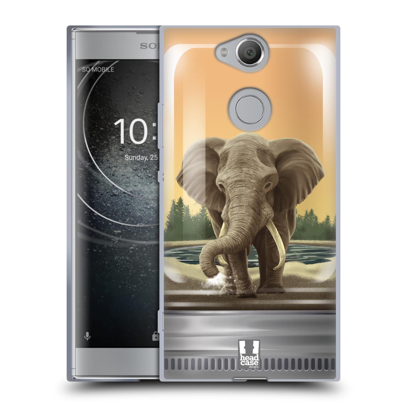 Pouzdro na mobil Sony Xperia XA2 (DUAL SIM, SINGLE SIM) vzor Zvířátka v těžítku slon