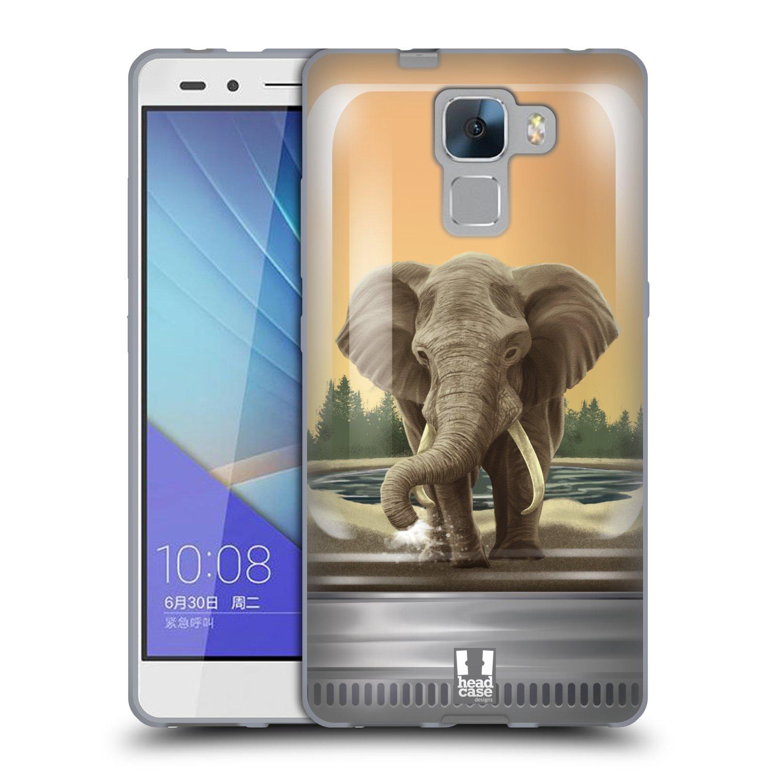 HEAD CASE silikonový obal na mobil HUAWEI HONOR 7 vzor Zvířátka v těžítku slon