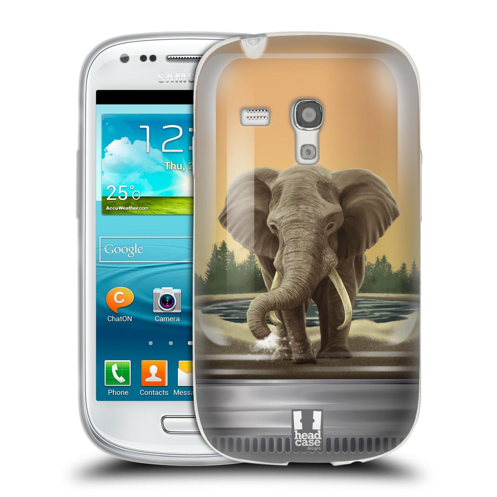 HEAD CASE silikonový obal na mobil Samsung Galaxy S3 MINI i8190 vzor Zvířátka v těžítku slon