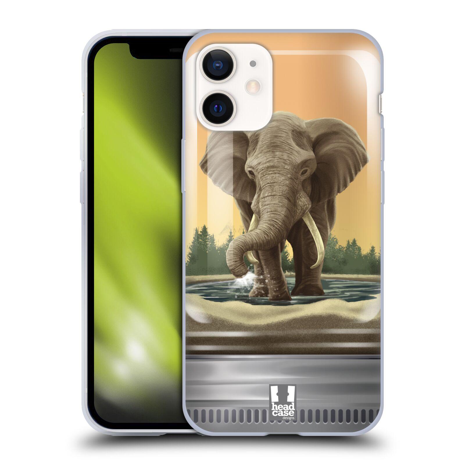 Plastový obal na mobil Apple Iphone 12 MINI vzor Zvířátka v těžítku slon