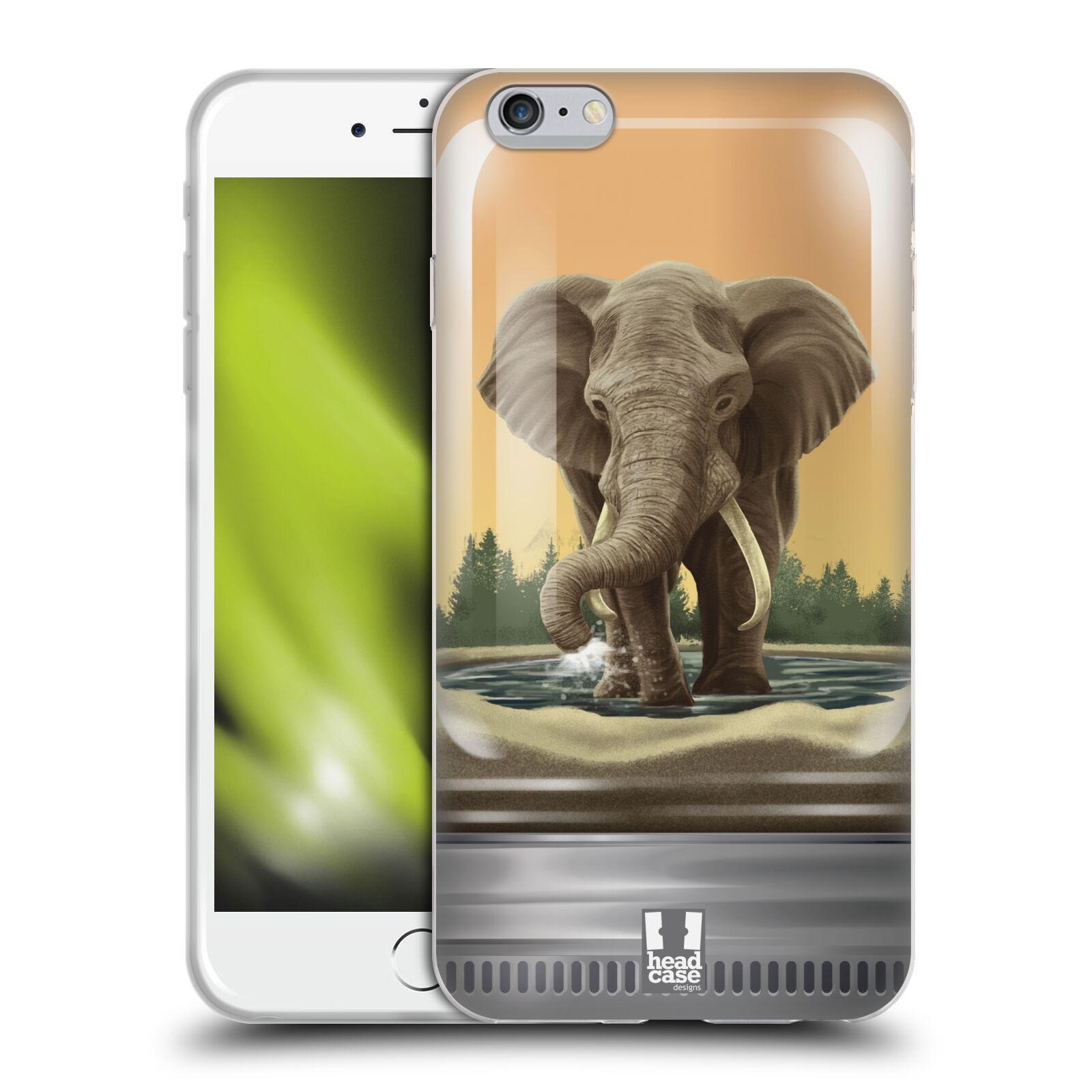 HEAD CASE silikonový obal na mobil Apple Iphone 6 PLUS/ 6S PLUS vzor Zvířátka v těžítku slon