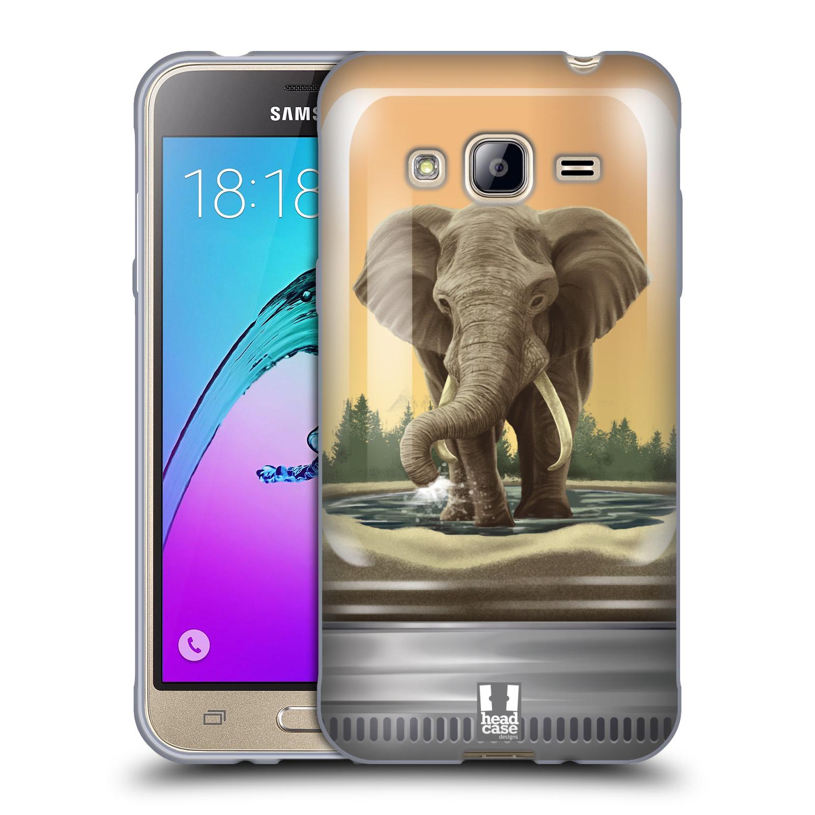 HEAD CASE silikonový obal na mobil Samsung Galaxy J3, J3 2016 vzor Zvířátka v těžítku slon