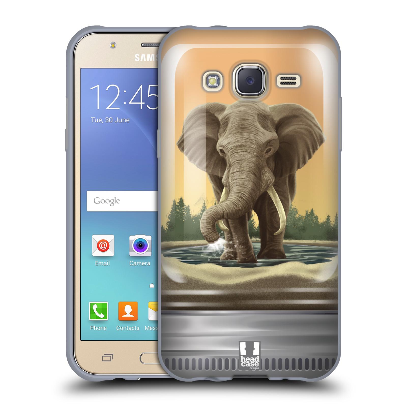 HEAD CASE silikonový obal na mobil Samsung Galaxy J5, J500, (J5 DUOS) vzor Zvířátka v těžítku slon
