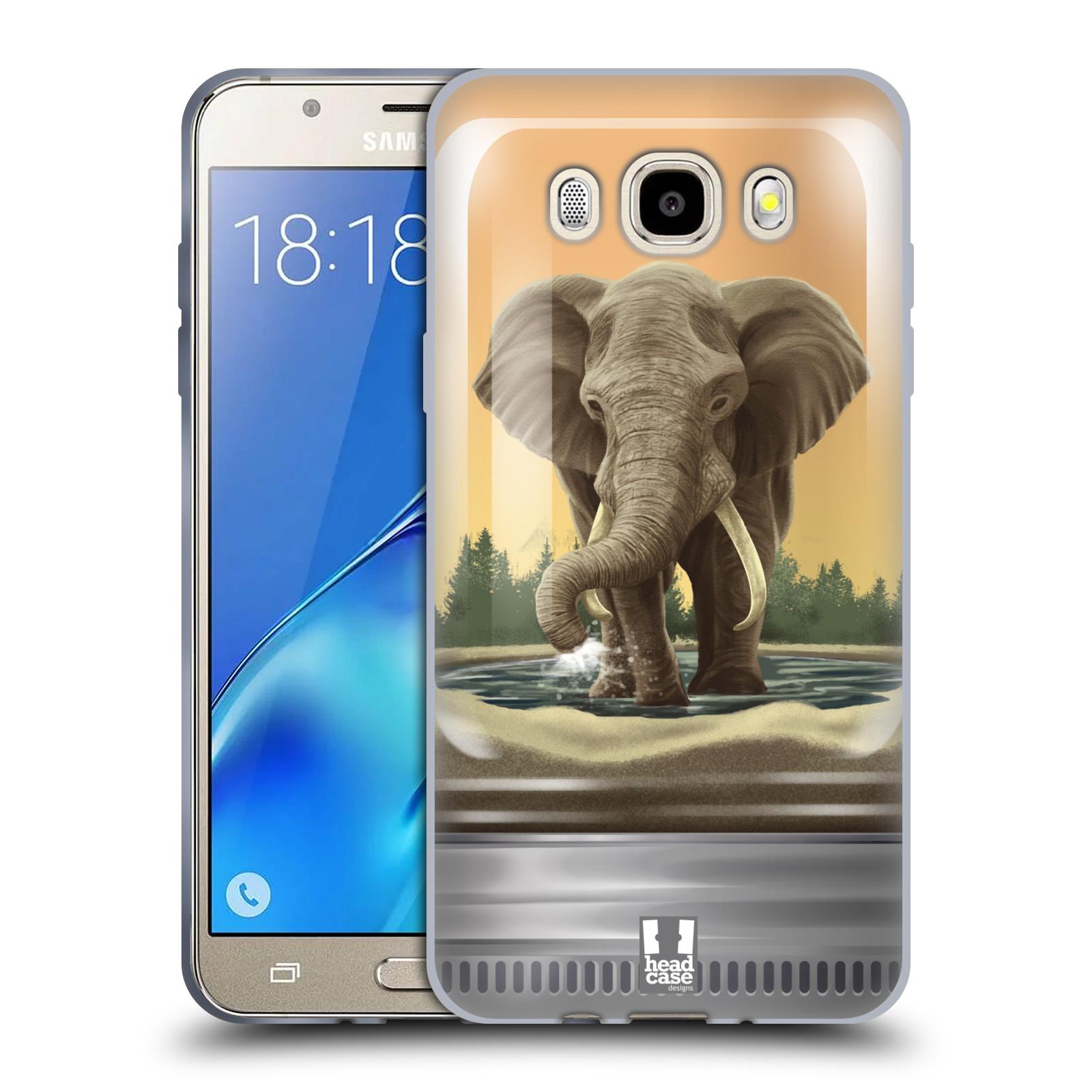 HEAD CASE silikonový obal, kryt na mobil Samsung Galaxy J5 2016, J510, J510F, (J510F DUAL SIM) vzor Zvířátka v těžítku slon
