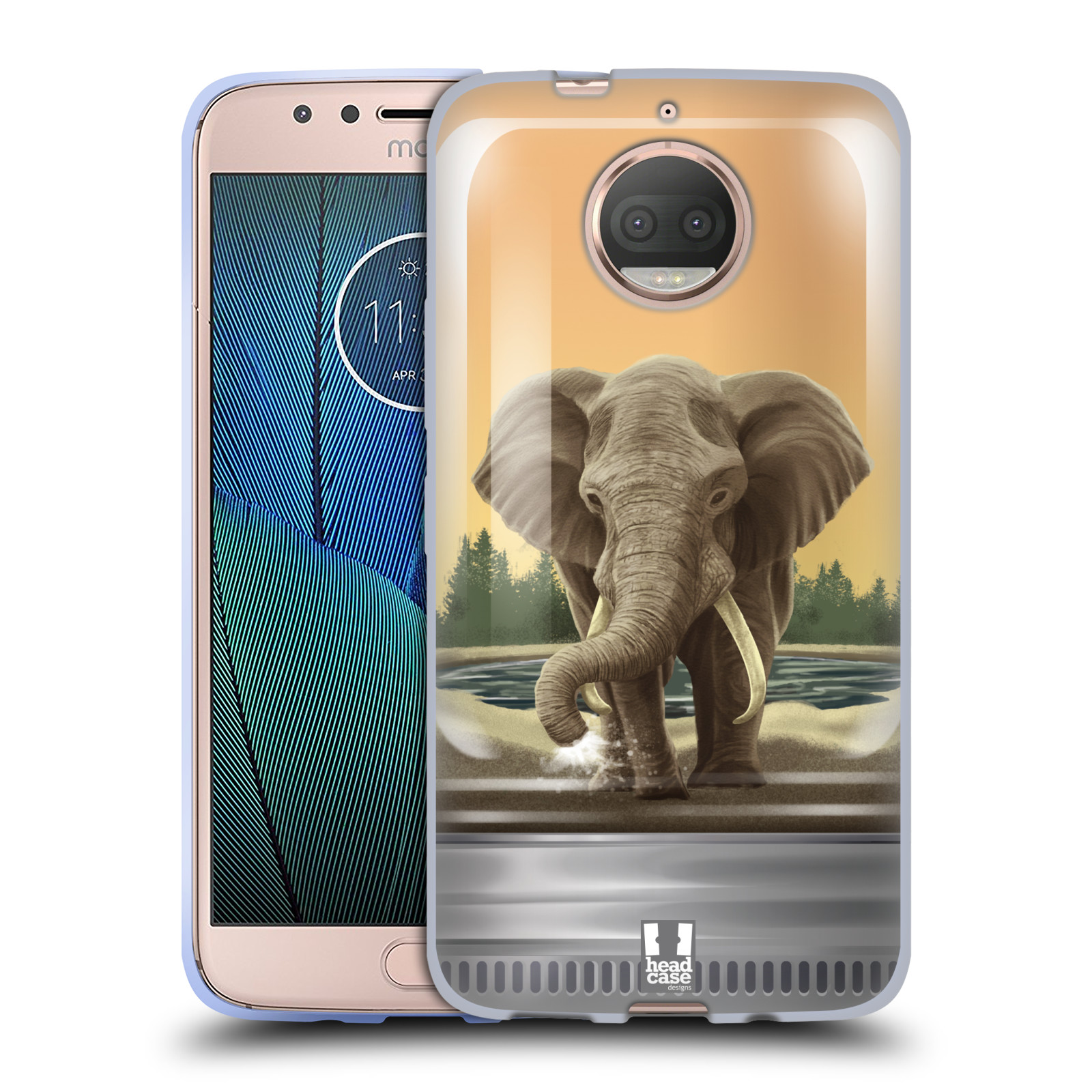 HEAD CASE silikonový obal na mobil Lenovo Moto G5s PLUS vzor Zvířátka v těžítku slon