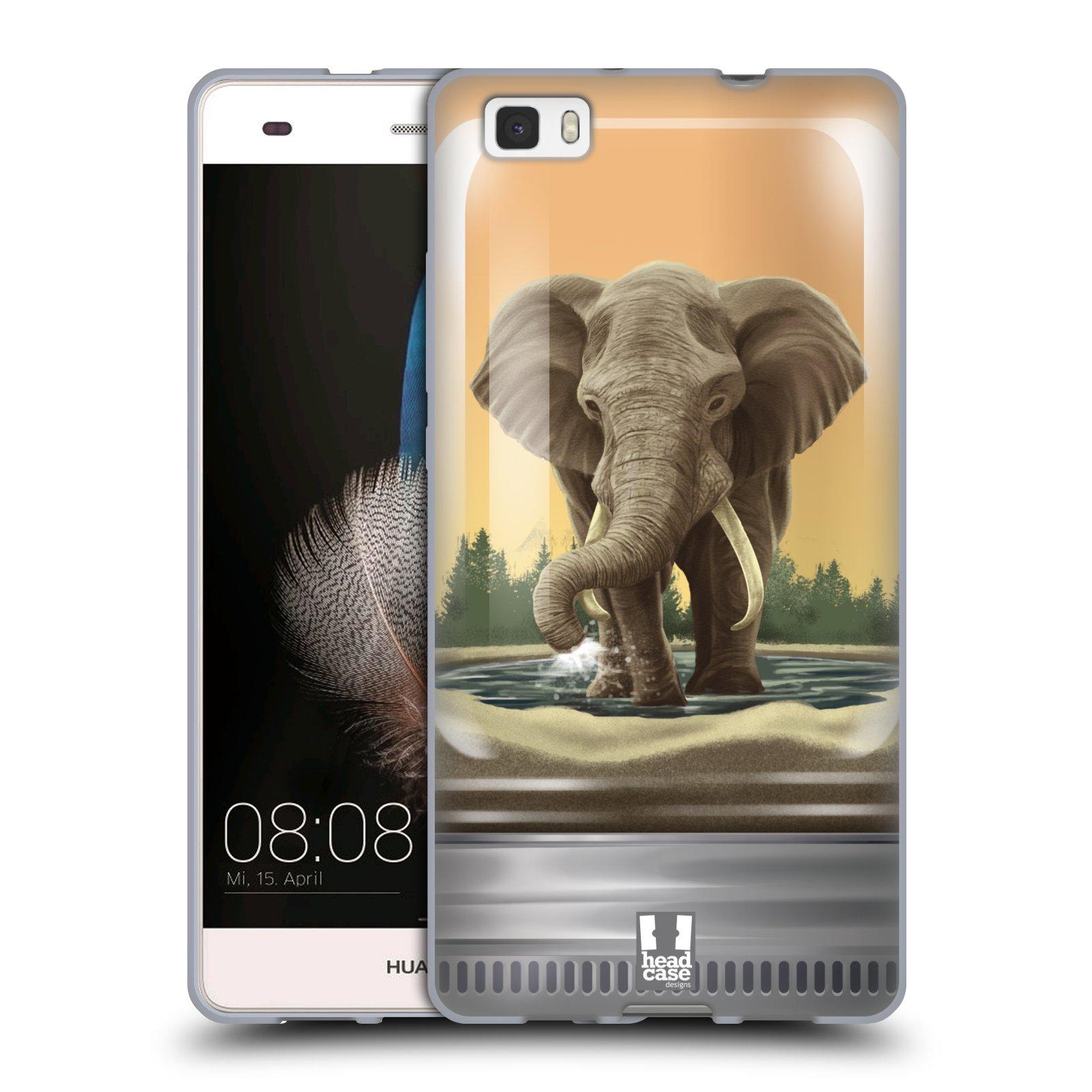 HEAD CASE silikonový obal na mobil HUAWEI P8 LITE vzor Zvířátka v těžítku slon