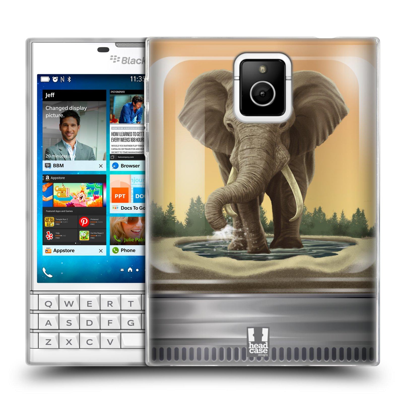 HEAD CASE silikonový obal na mobil Blackberry PASSPORT vzor Zvířátka v těžítku slon