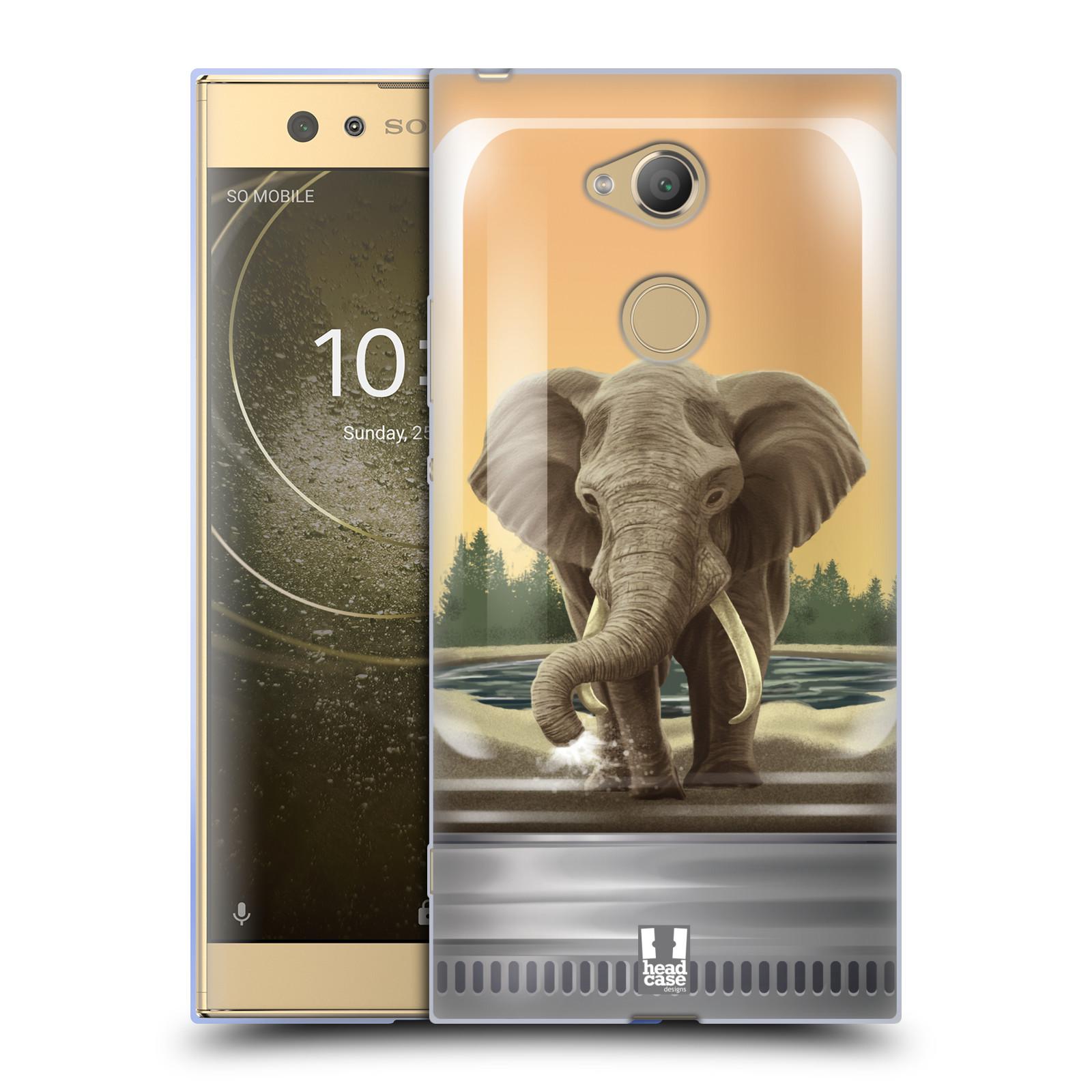 Pouzdro na mobil Sony Xperia XA2 Ultra vzor Zvířátka v těžítku slon