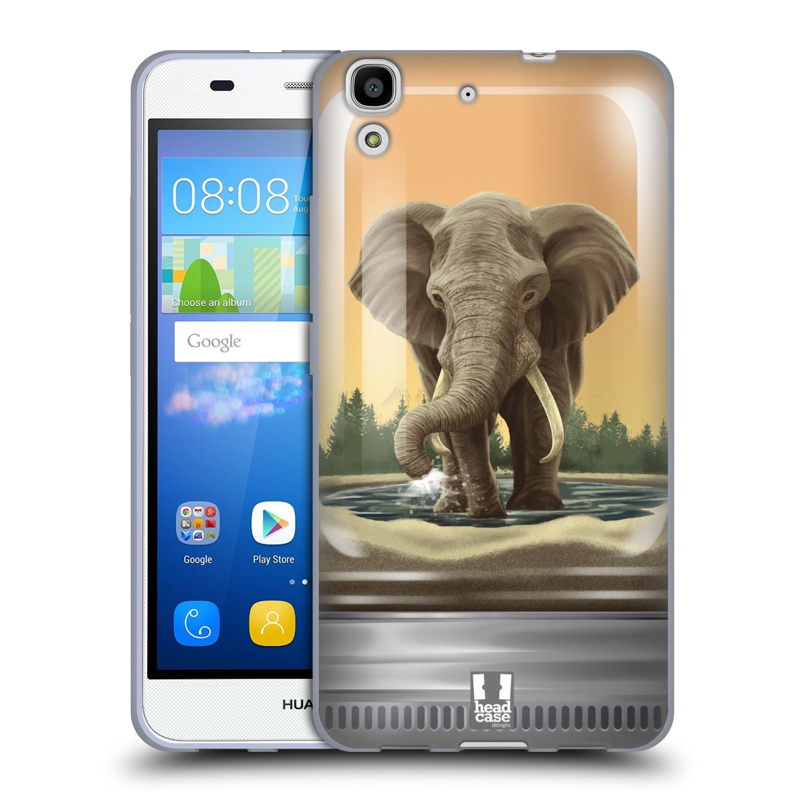 HEAD CASE silikonový obal na mobil HUAWEI Y6 vzor Zvířátka v těžítku slon