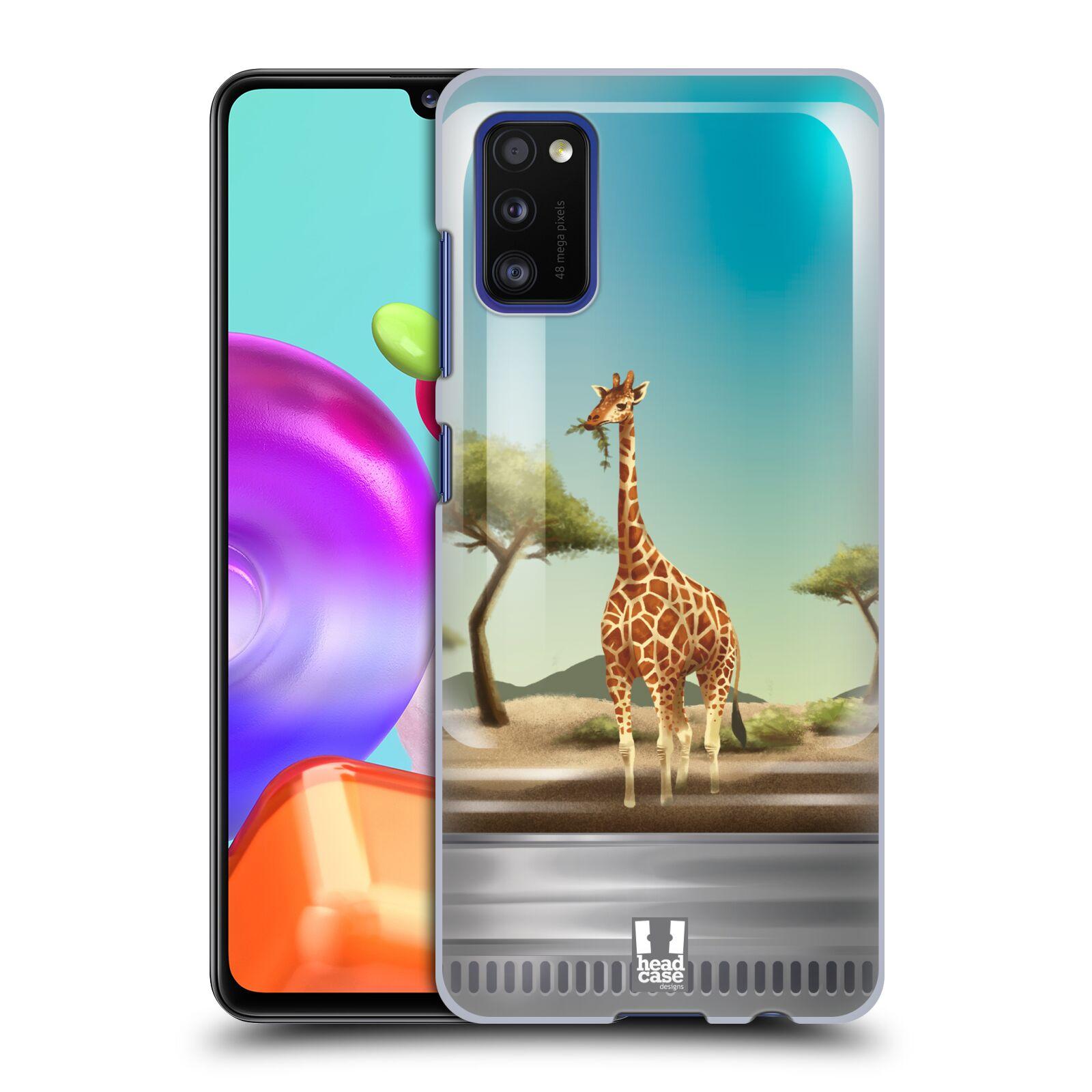 Zadní kryt na mobil Samsung Galaxy A41 vzor Zvířátka v těžítku žirafa