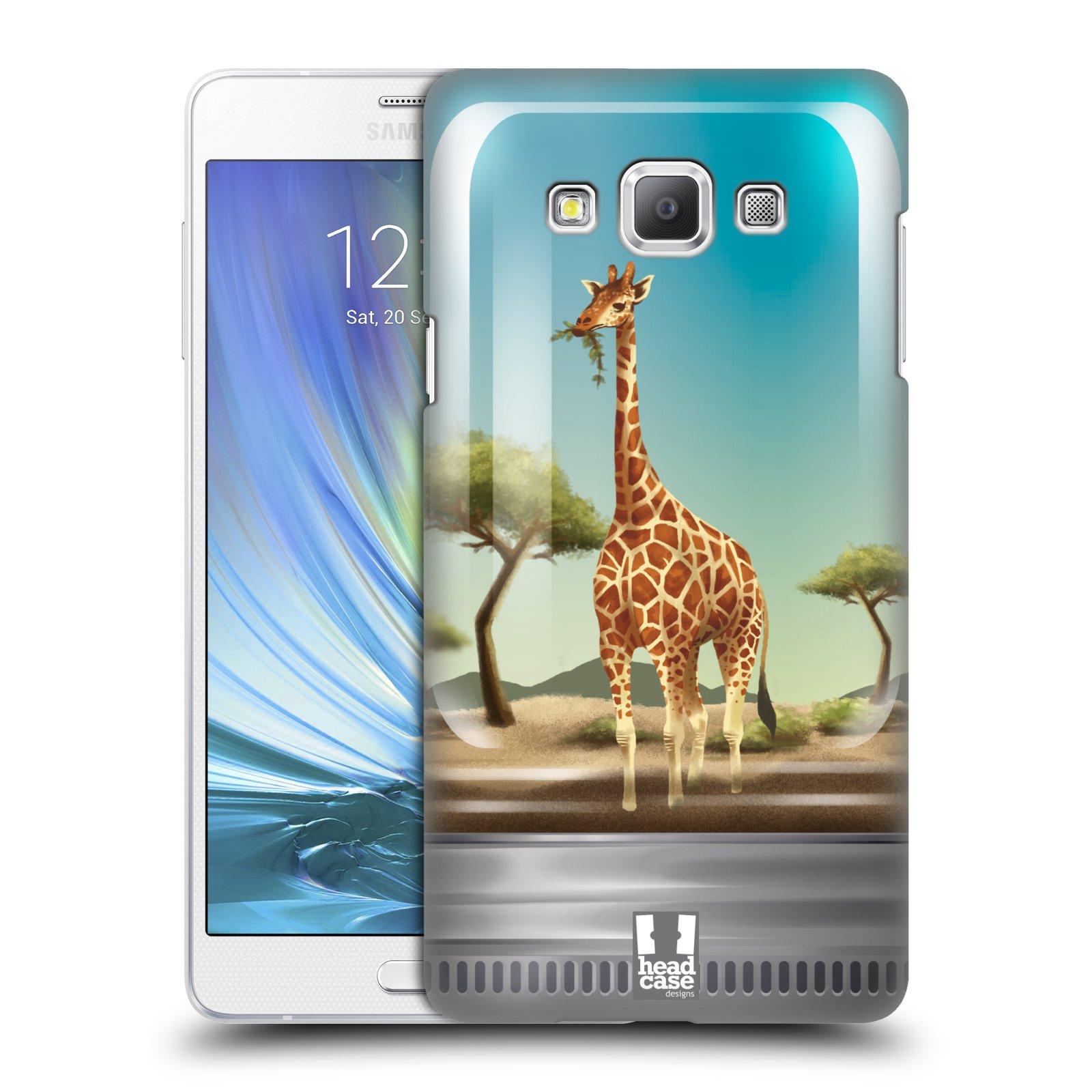 HEAD CASE plastový obal na mobil SAMSUNG GALAXY A7 vzor Zvířátka v těžítku žirafa
