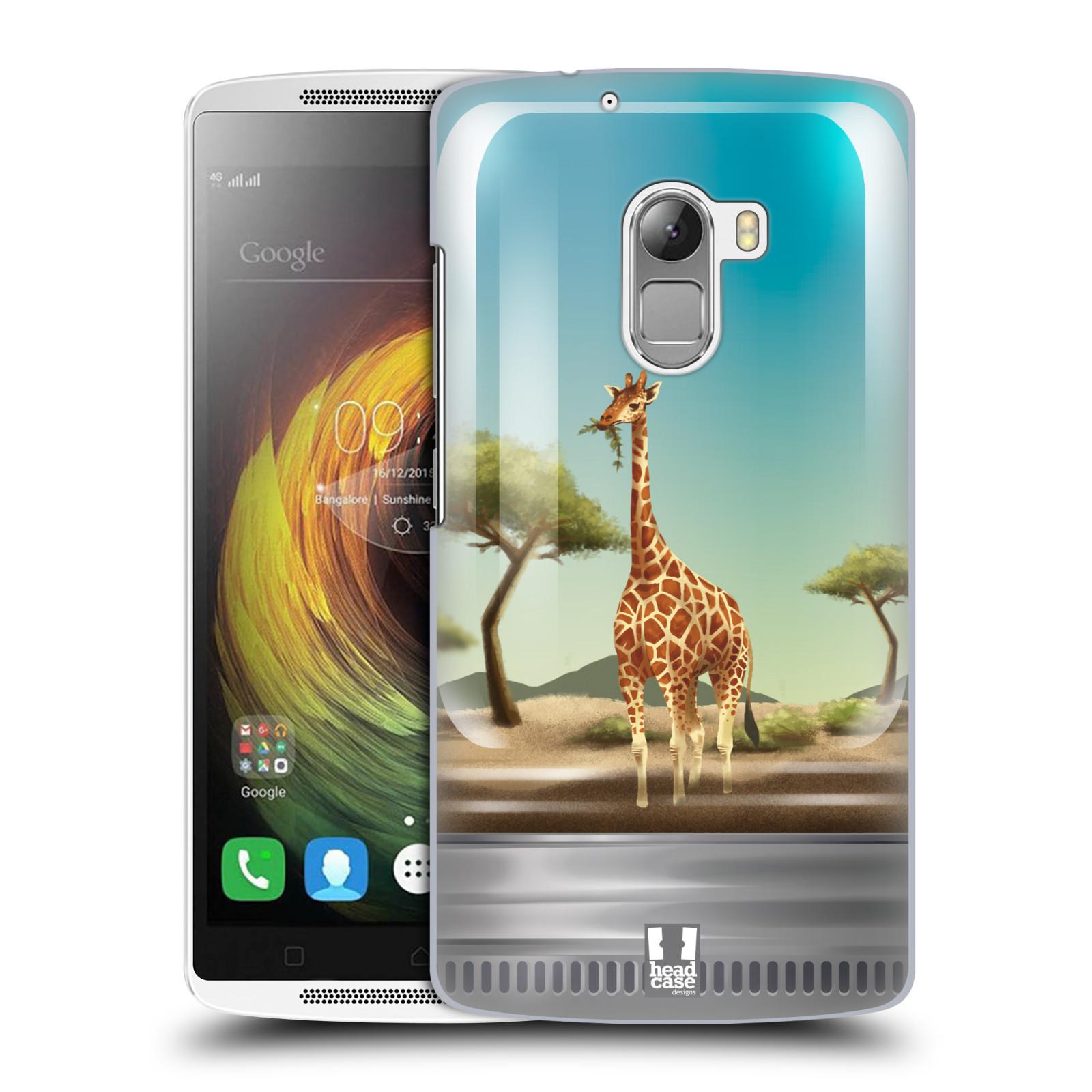 HEAD CASE pevný plastový obal na mobil LENOVO A7010 / A7010 DUAL / K4 Note / Vibe X3 lite vzor Zvířátka v těžítku žirafa