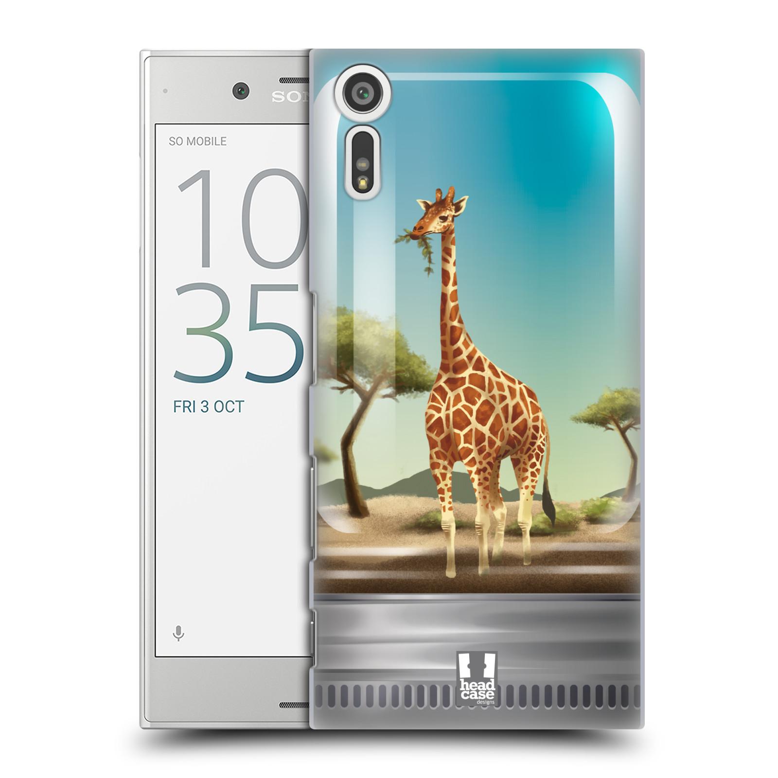 HEAD CASE plastový obal na mobil Sony Xperia XZ vzor Zvířátka v těžítku žirafa