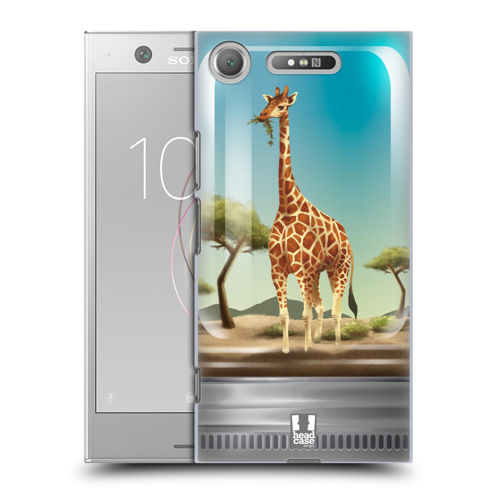 HEAD CASE plastový obal na mobil Sony Xperia XZ1 vzor Zvířátka v těžítku žirafa
