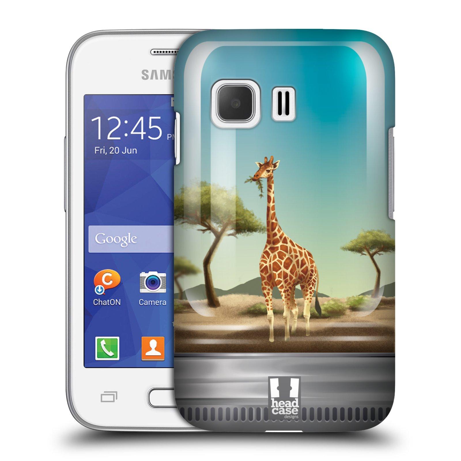 HEAD CASE plastový obal na mobil SAMSUNG Galaxy Young 2 (G130) vzor Zvířátka v těžítku žirafa