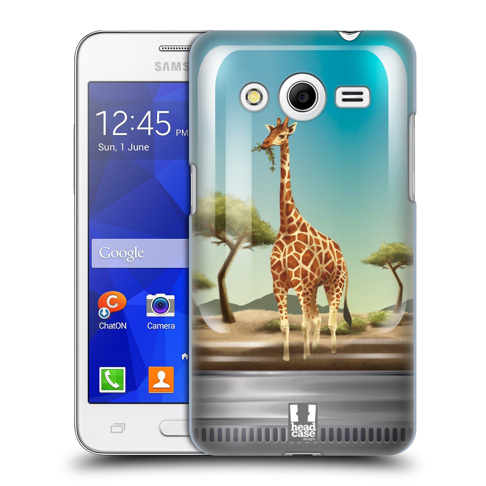 HEAD CASE plastový obal na mobil SAMSUNG GALAXY Core 2 (G355H) vzor Zvířátka v těžítku žirafa