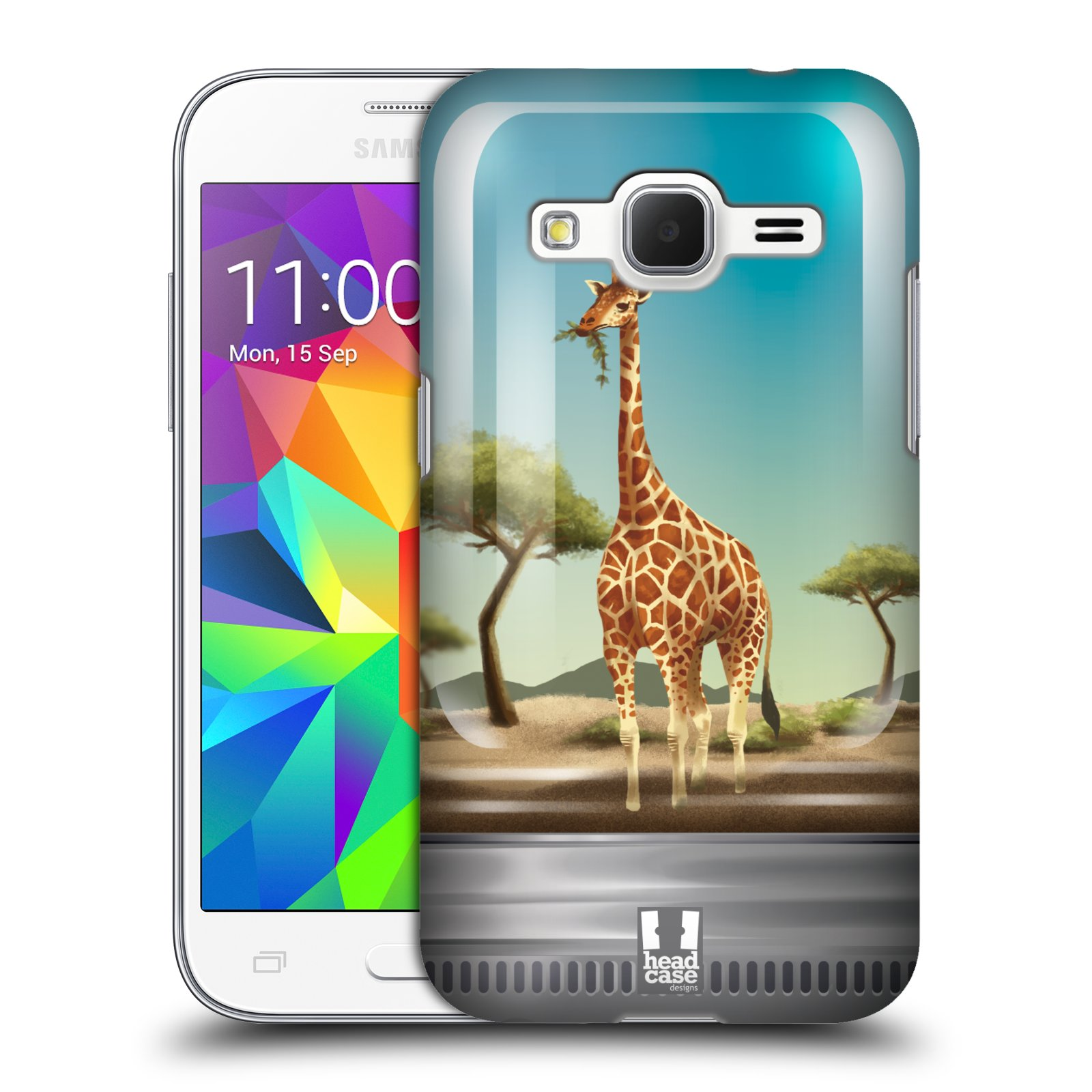HEAD CASE plastový obal na mobil SAMSUNG GALAXY Core Prime (Core Prime VE) vzor Zvířátka v těžítku žirafa