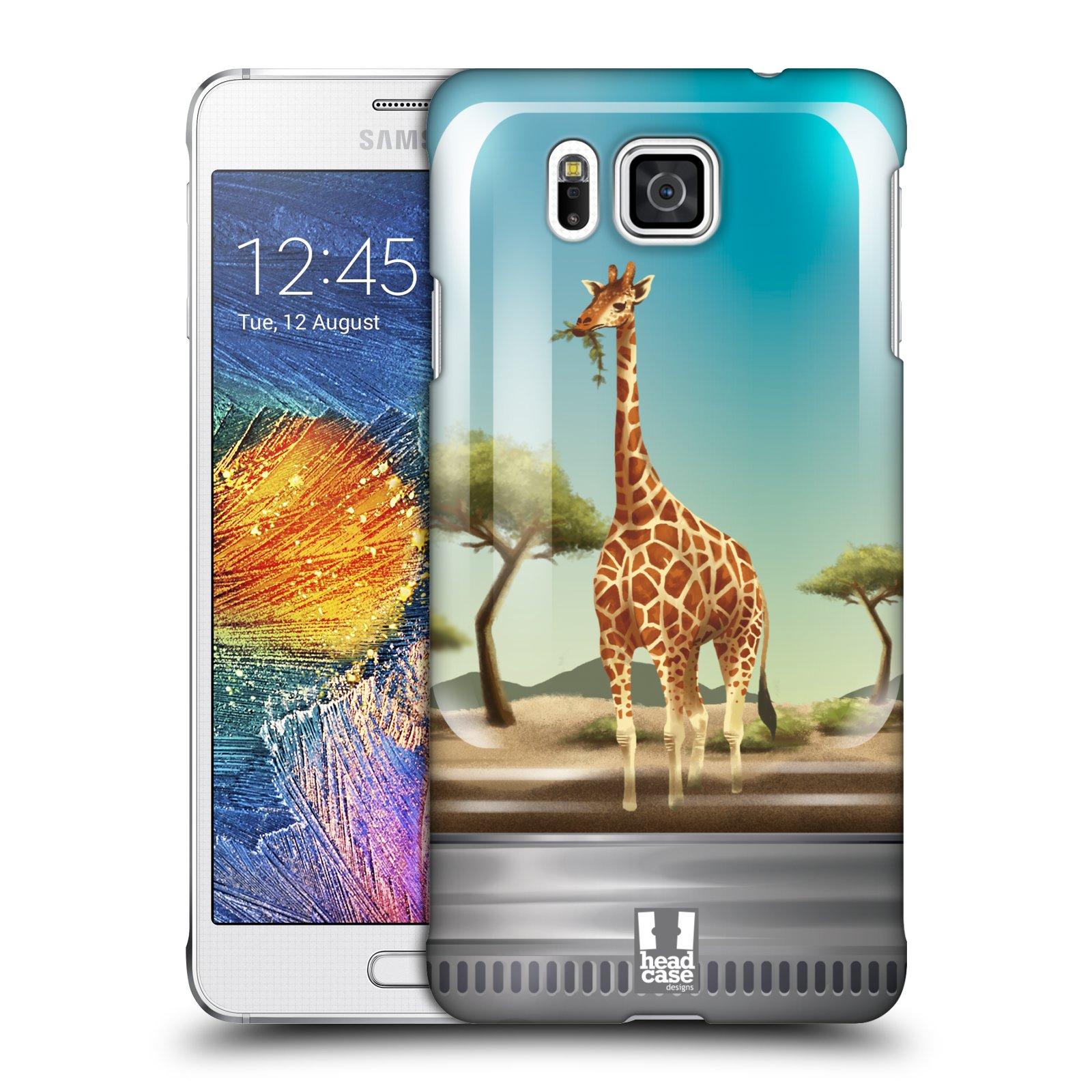 HEAD CASE plastový obal na mobil SAMSUNG Galaxy Alpha (G850) vzor Zvířátka v těžítku žirafa