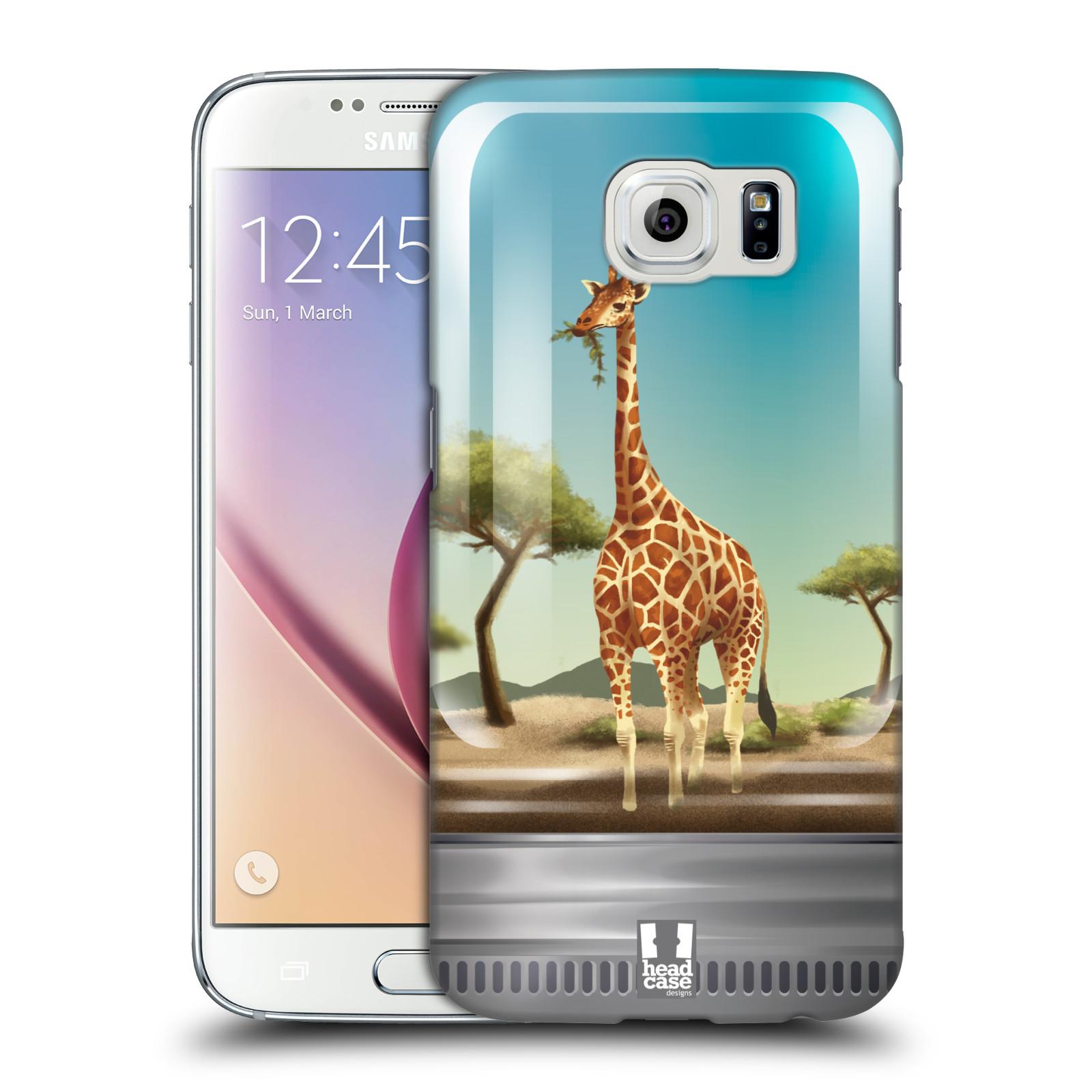 HEAD CASE plastový obal na mobil SAMSUNG Galaxy S6 (G9200, G920F) vzor Zvířátka v těžítku žirafa