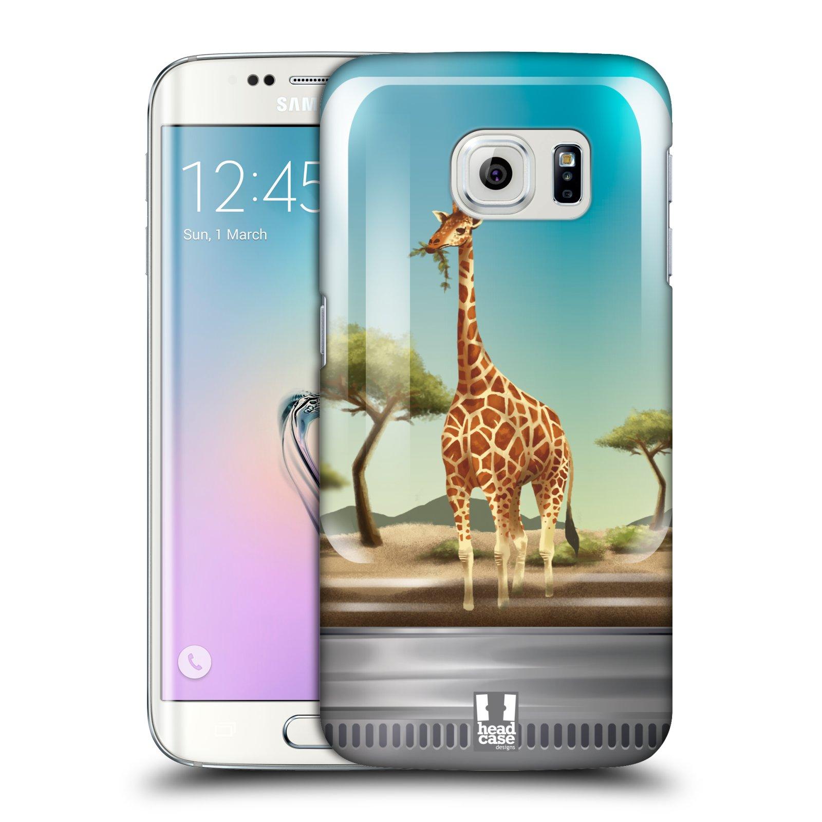 HEAD CASE plastový obal na mobil SAMSUNG Galaxy S6 EDGE (G9250, G925, G925F) vzor Zvířátka v těžítku žirafa