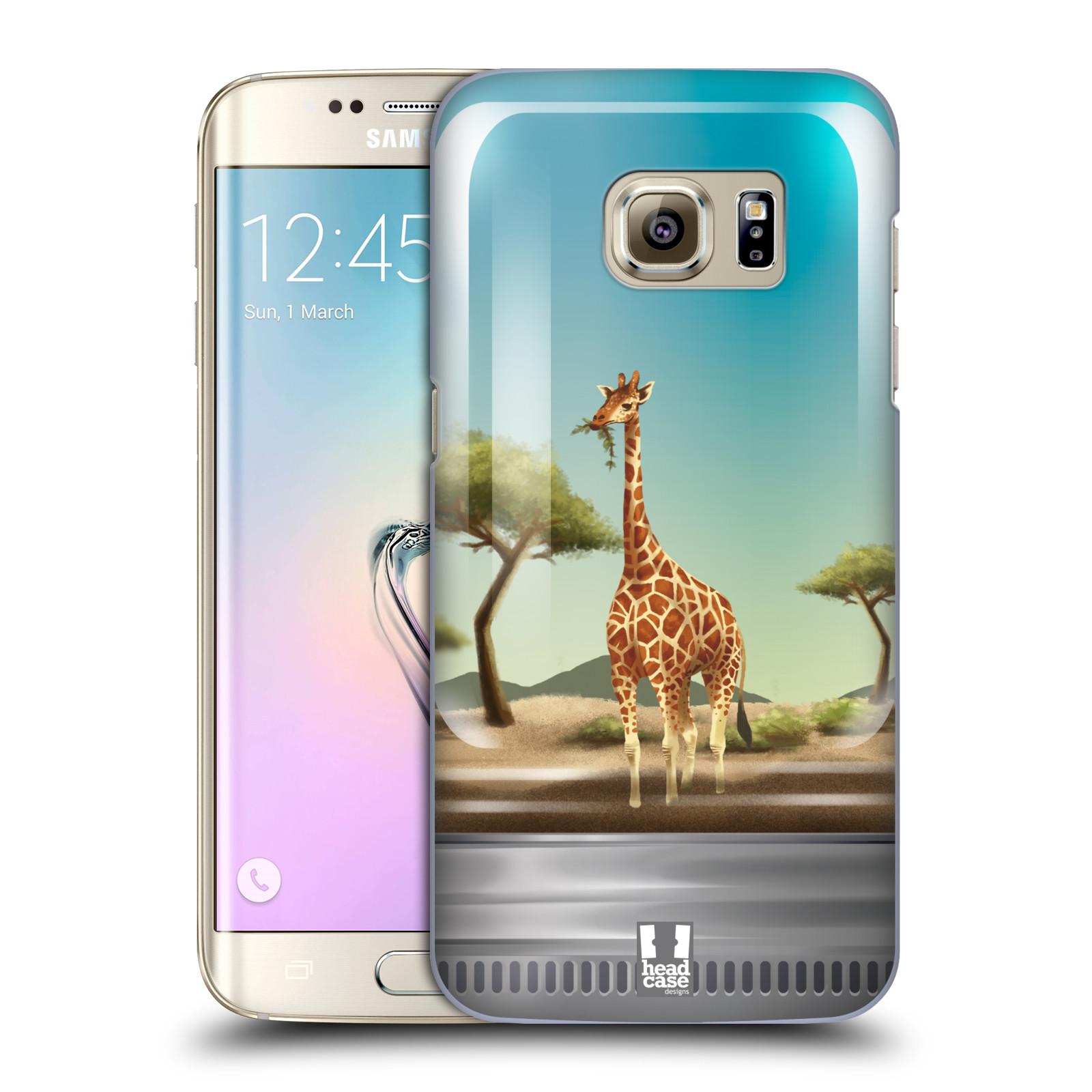 HEAD CASE plastový obal na mobil SAMSUNG GALAXY S7 EDGE vzor Zvířátka v těžítku žirafa