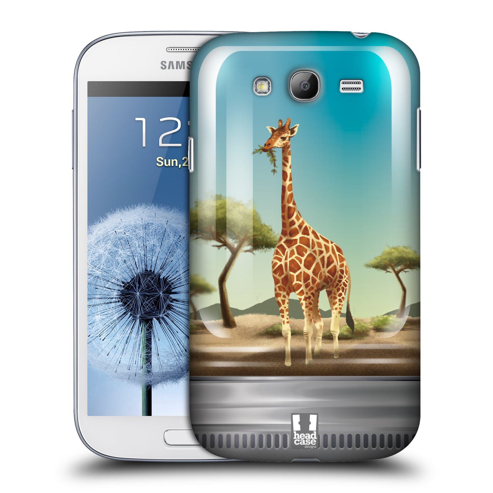 HEAD CASE plastový obal na mobil SAMSUNG GALAXY Grand i9080 vzor Zvířátka v těžítku žirafa
