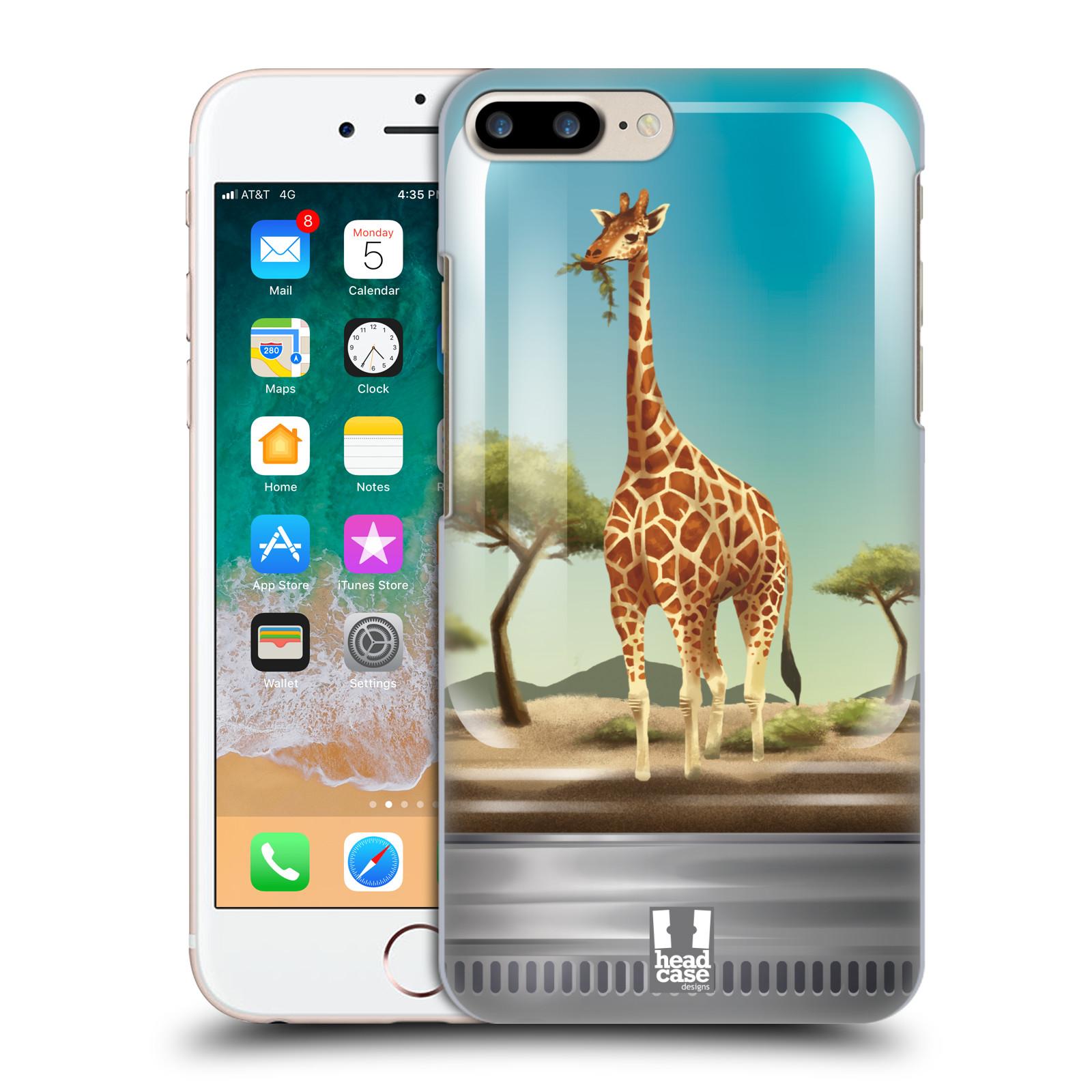 HEAD CASE plastový obal na mobil Apple Iphone 7 PLUS vzor Zvířátka v těžítku žirafa