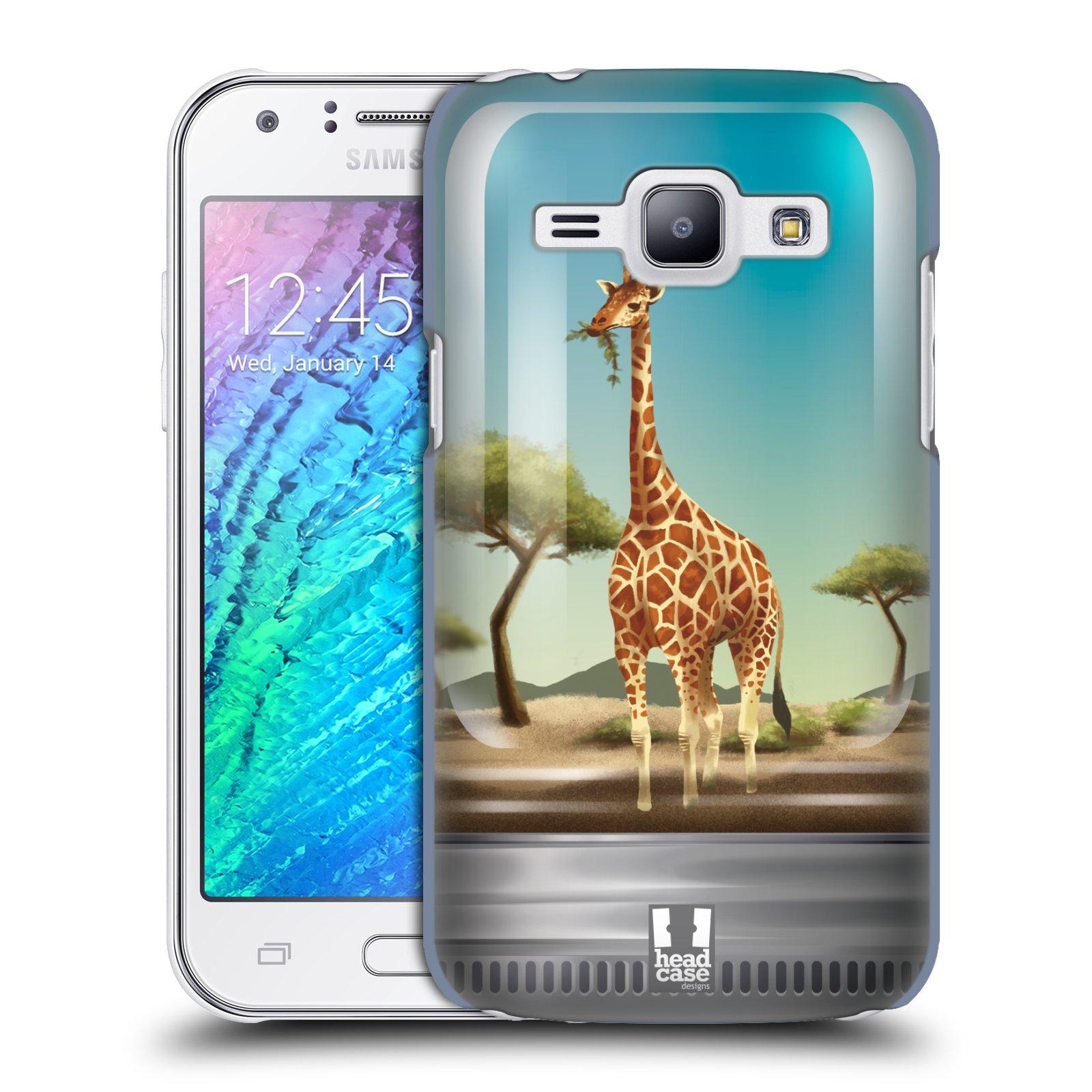 HEAD CASE plastový obal na mobil SAMSUNG Galaxy J1, J100 vzor Zvířátka v těžítku žirafa