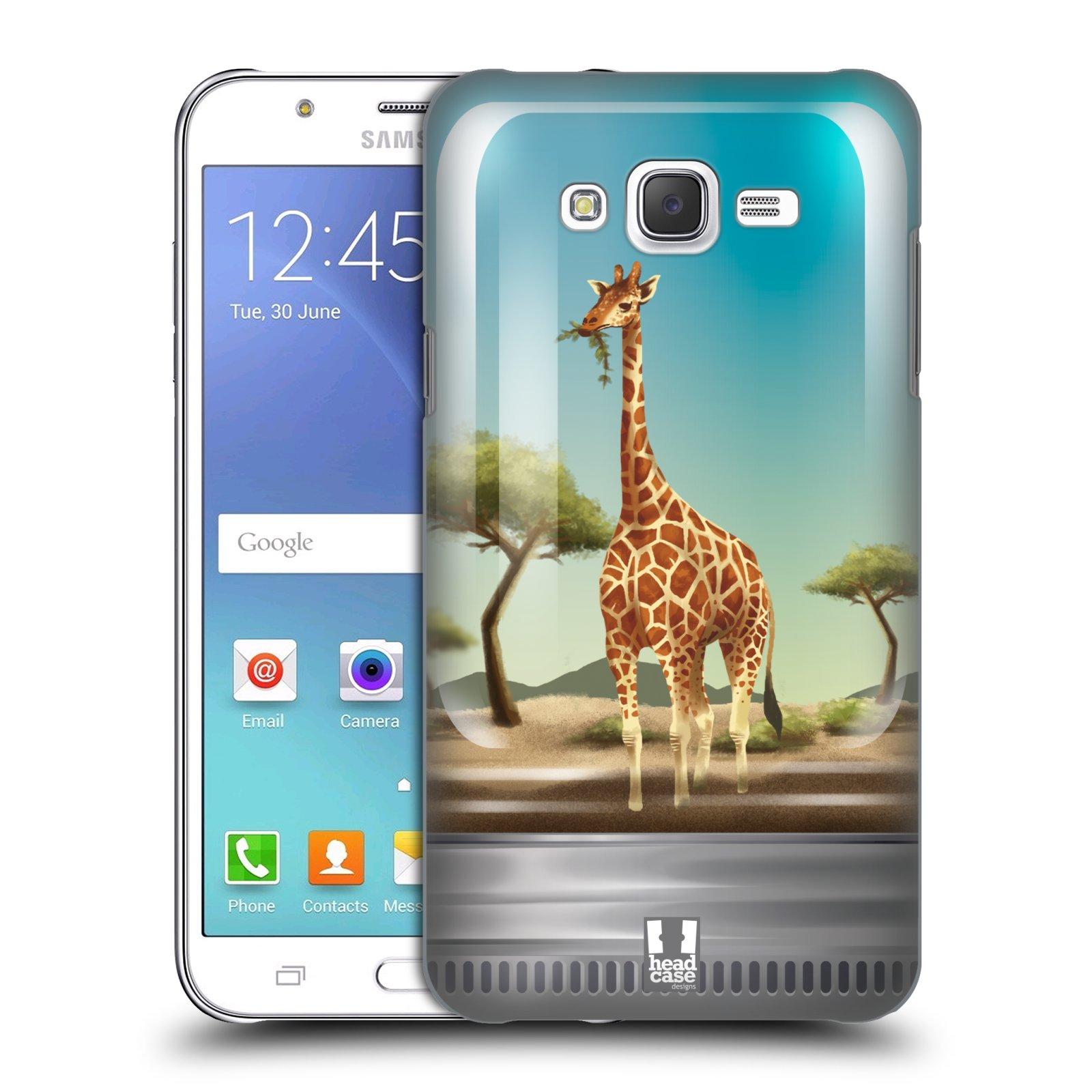 HEAD CASE plastový obal na mobil SAMSUNG Galaxy J7, J700 vzor Zvířátka v těžítku žirafa