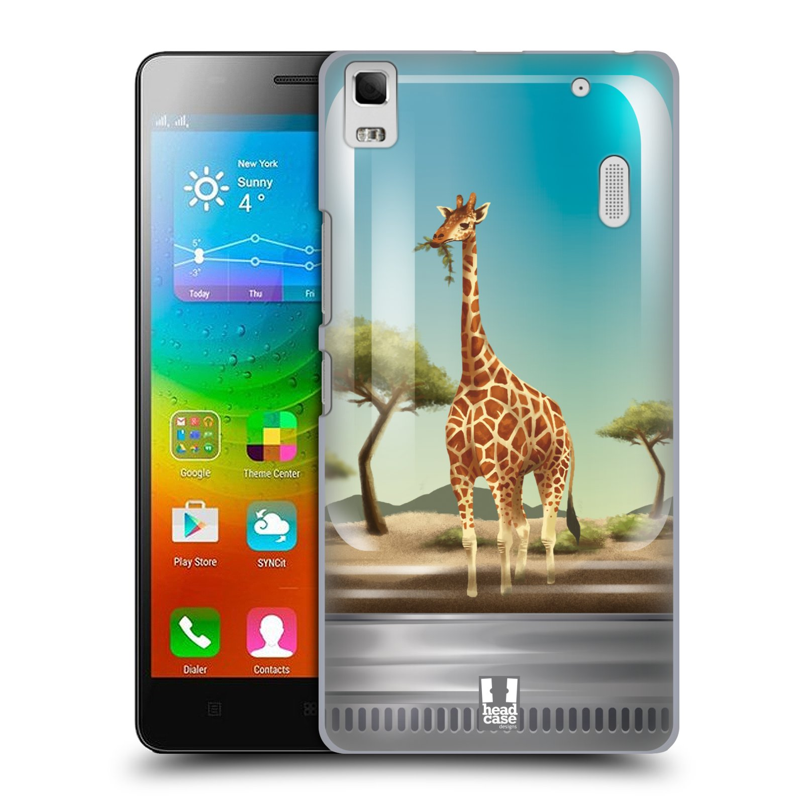 HEAD CASE pevný plastový obal na mobil LENOVO A7000 / A7000 DUAL / K3 NOTE vzor Zvířátka v těžítku žirafa