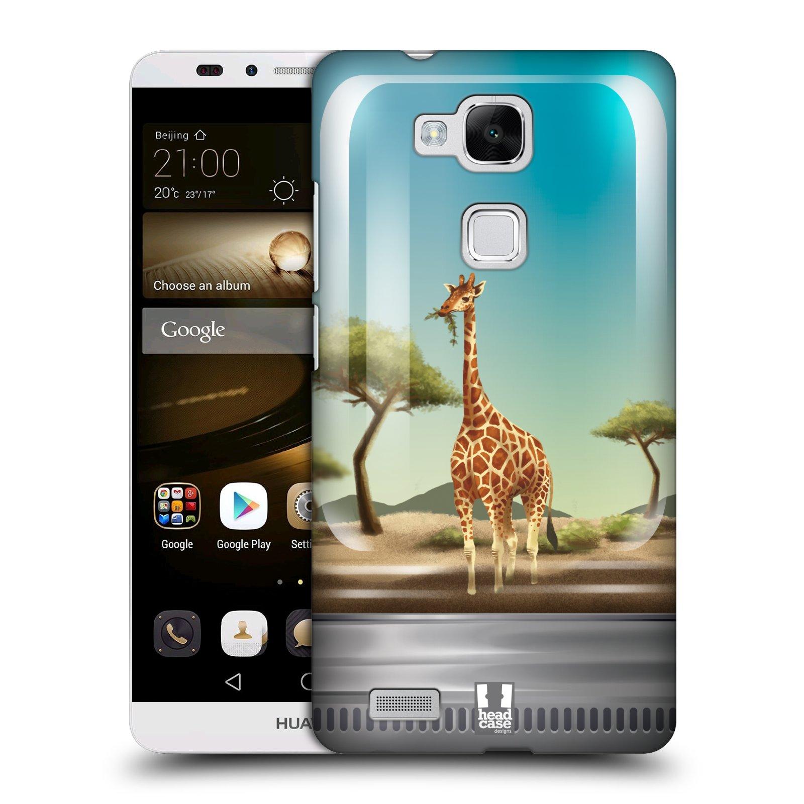 HEAD CASE plastový obal na mobil Huawei Mate 7 vzor Zvířátka v těžítku žirafa
