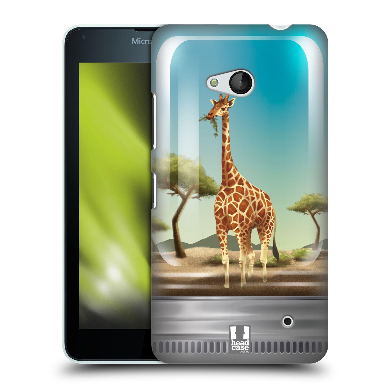 HEAD CASE plastový obal na mobil Nokia Lumia 640 vzor Zvířátka v těžítku žirafa