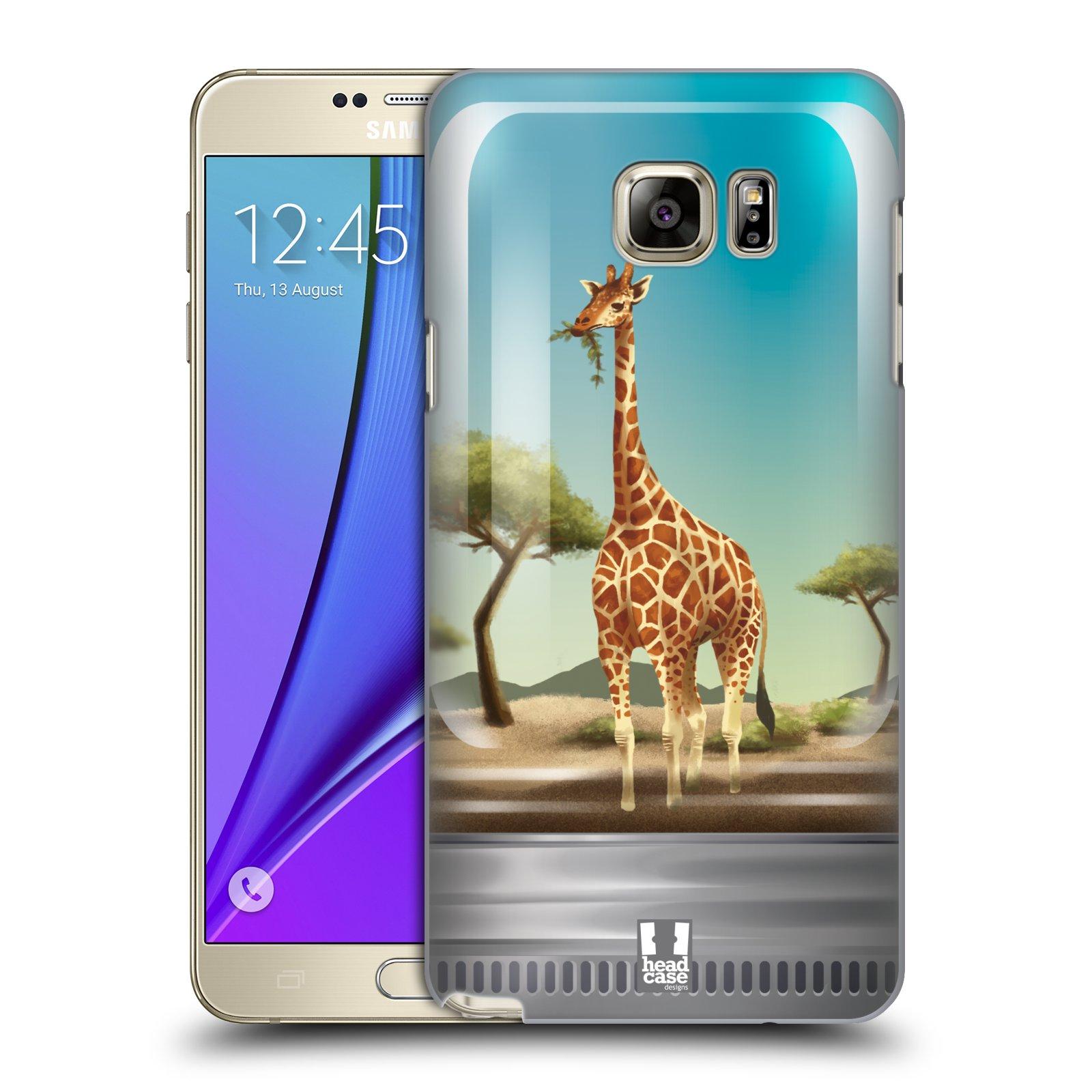 HEAD CASE plastový obal na mobil SAMSUNG Galaxy Note 5 (N920) vzor Zvířátka v těžítku žirafa