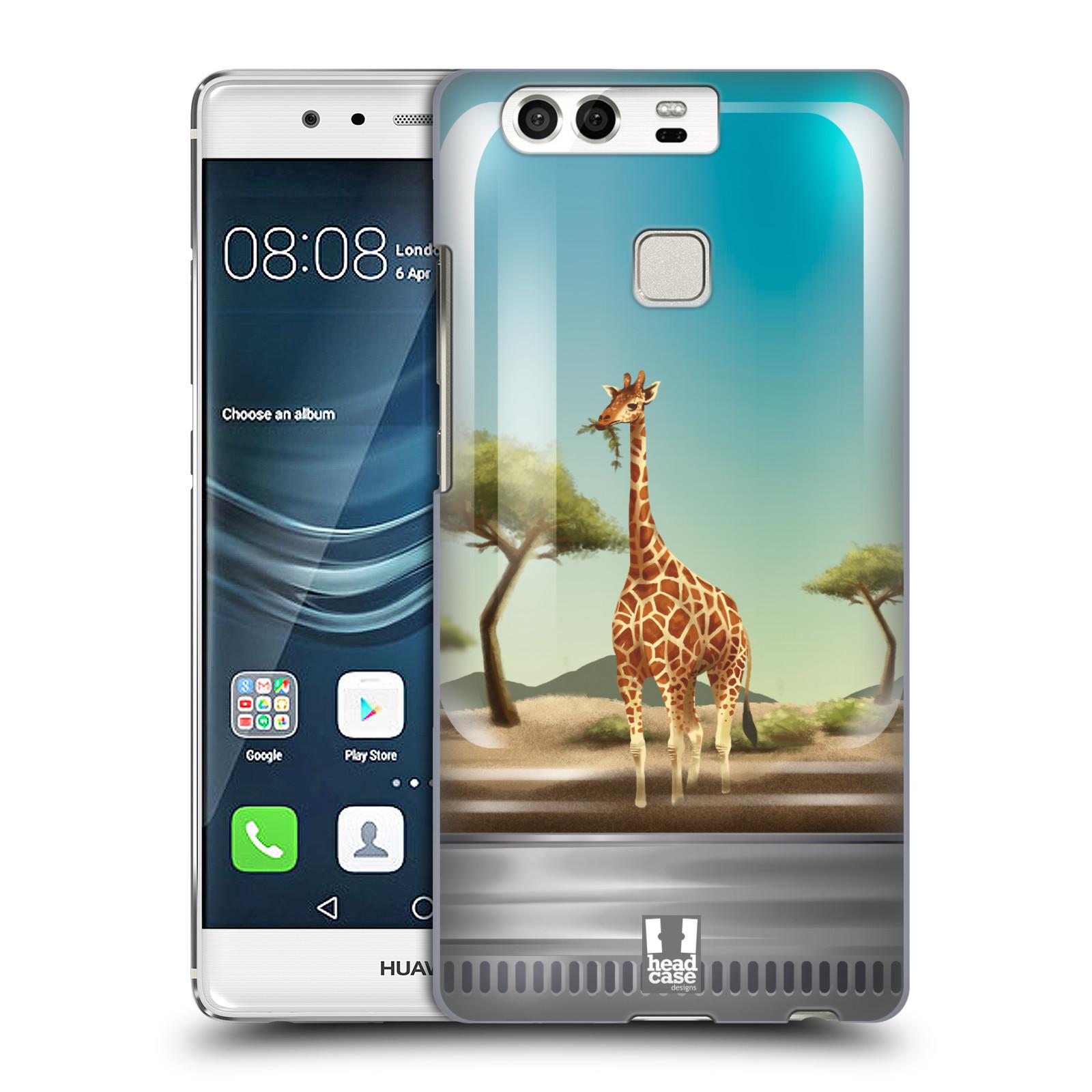 HEAD CASE plastový obal na mobil Huawei P9 / P9 DUAL SIM vzor Zvířátka v těžítku žirafa
