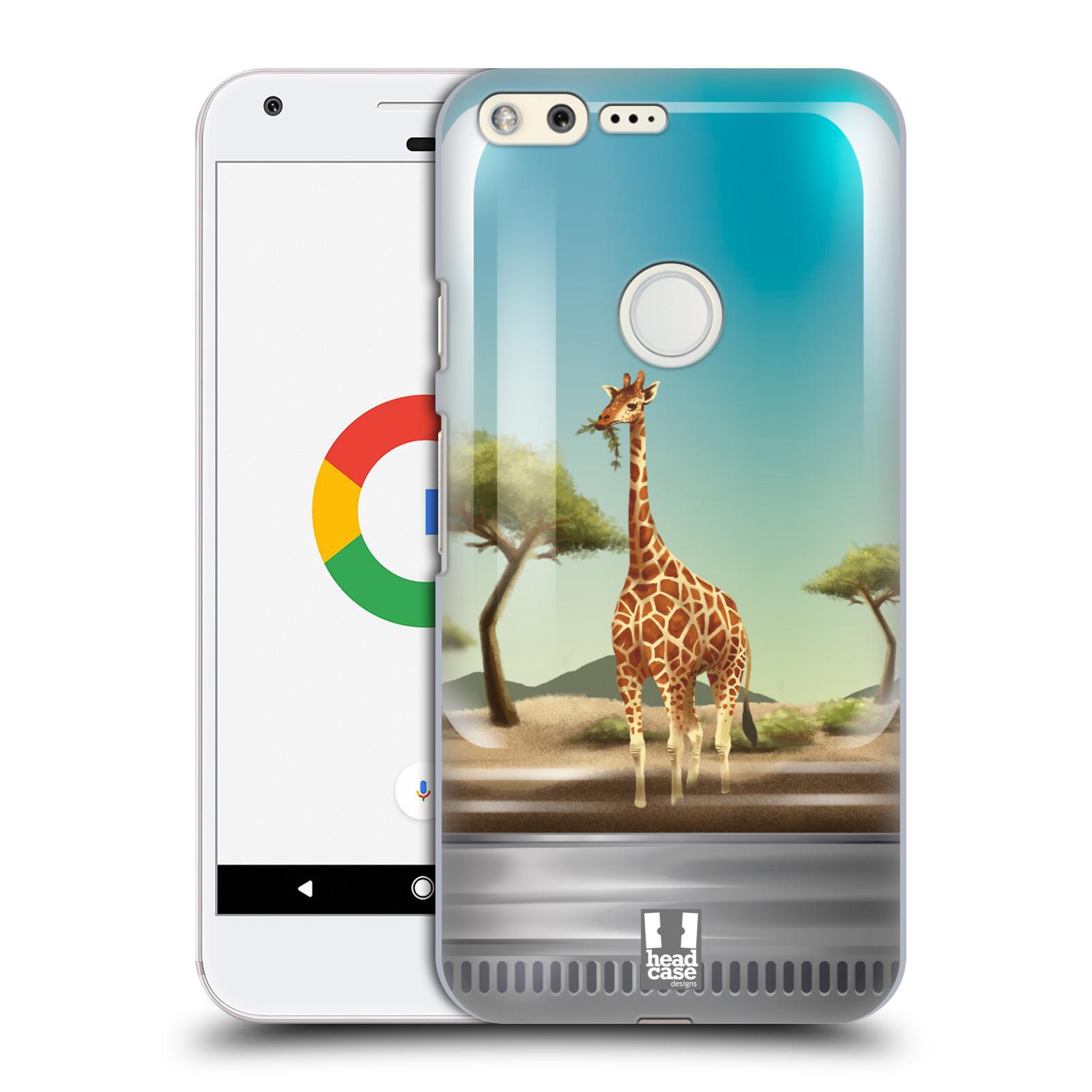 HEAD CASE plastový obal na mobil GOOGLE Pixel vzor Zvířátka v těžítku žirafa