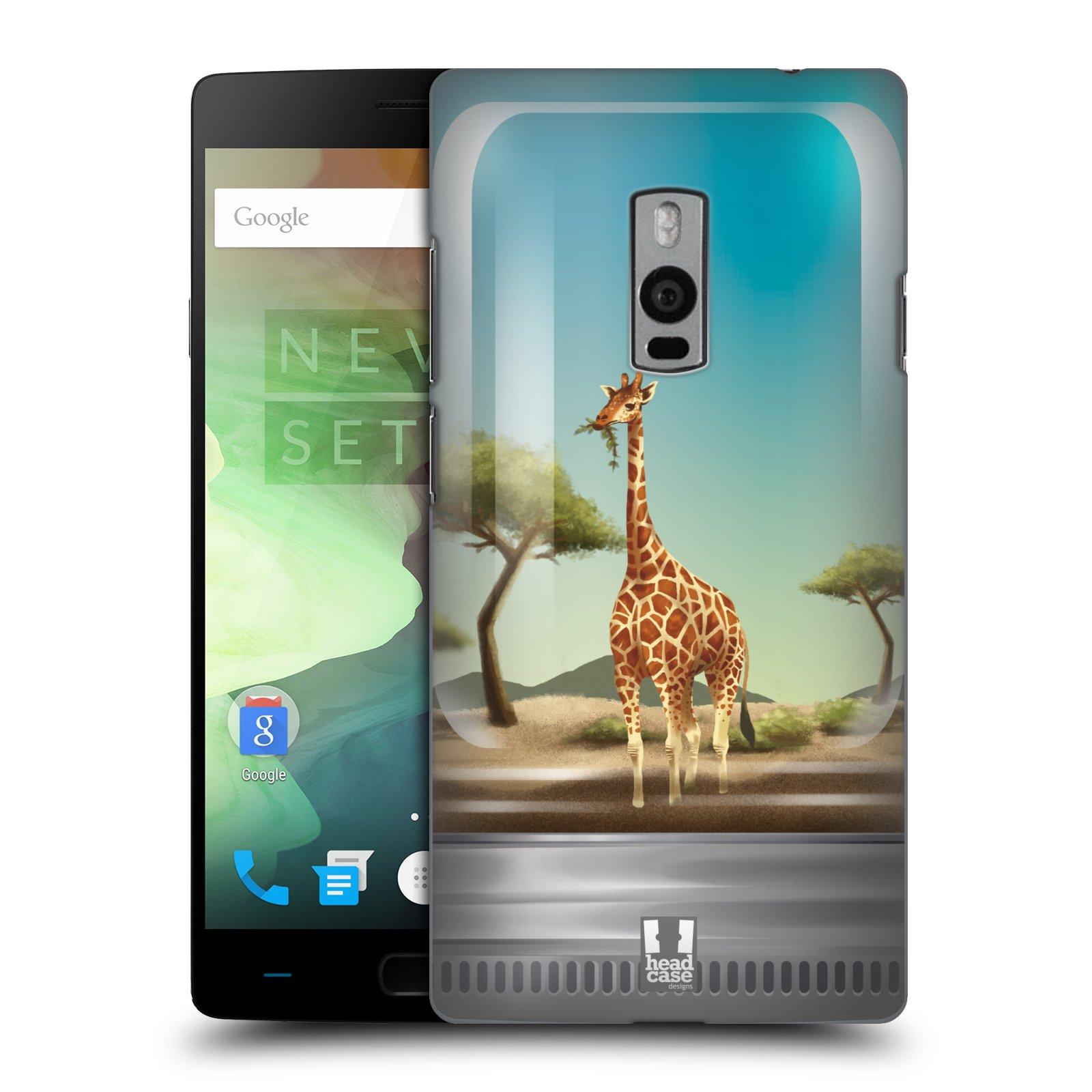 HEAD CASE pevný plastový obal na mobil OnePlus 2  ( TWO ) vzor Zvířátka v těžítku žirafa
