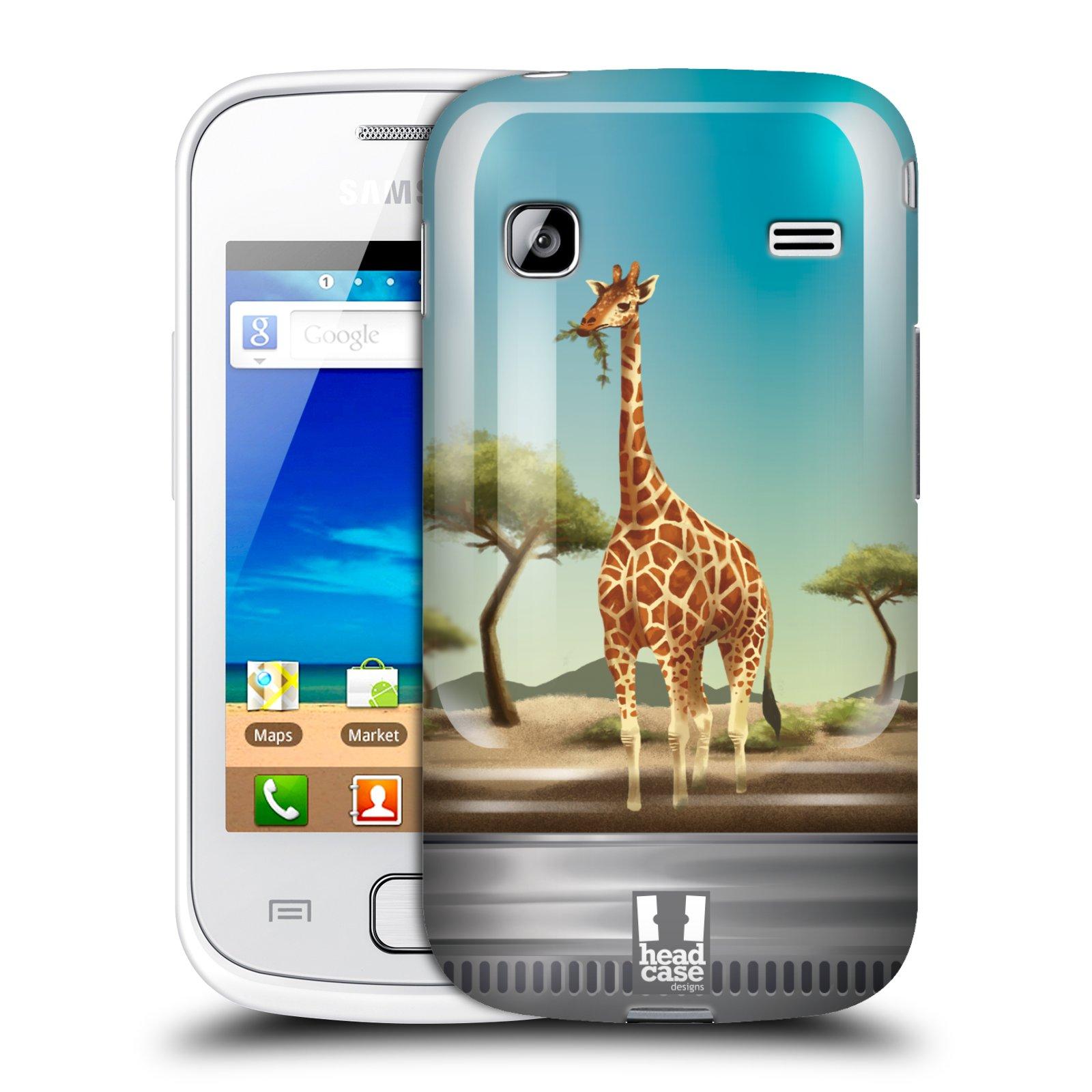 HEAD CASE plastový obal na mobil SAMSUNG GALAXY GIO (S5660) vzor Zvířátka v těžítku žirafa