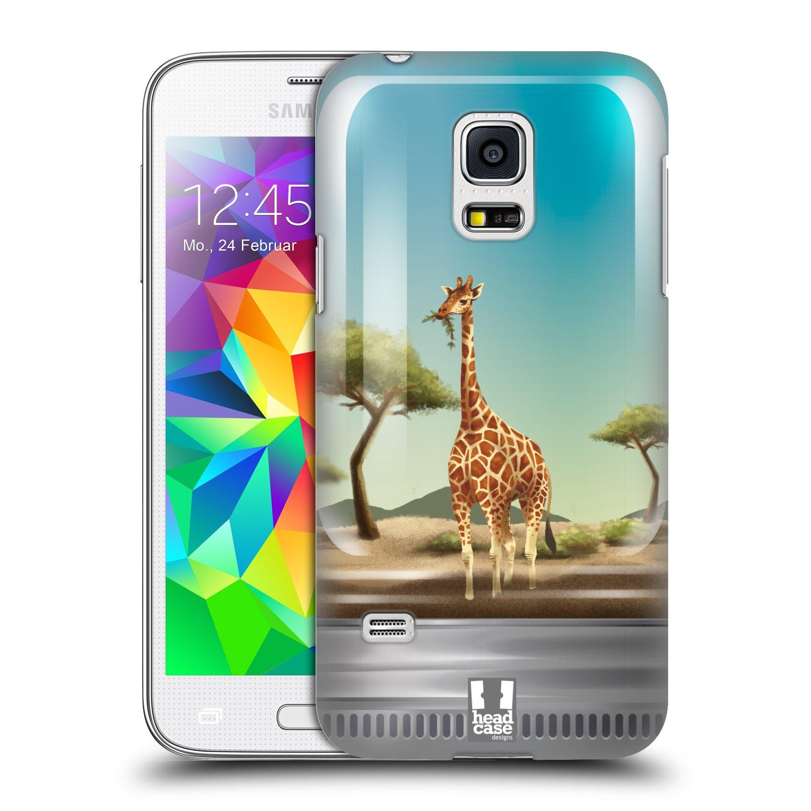 HEAD CASE plastový obal na mobil SAMSUNG Galaxy S5 MINI / S5 MINI DUOS vzor Zvířátka v těžítku žirafa
