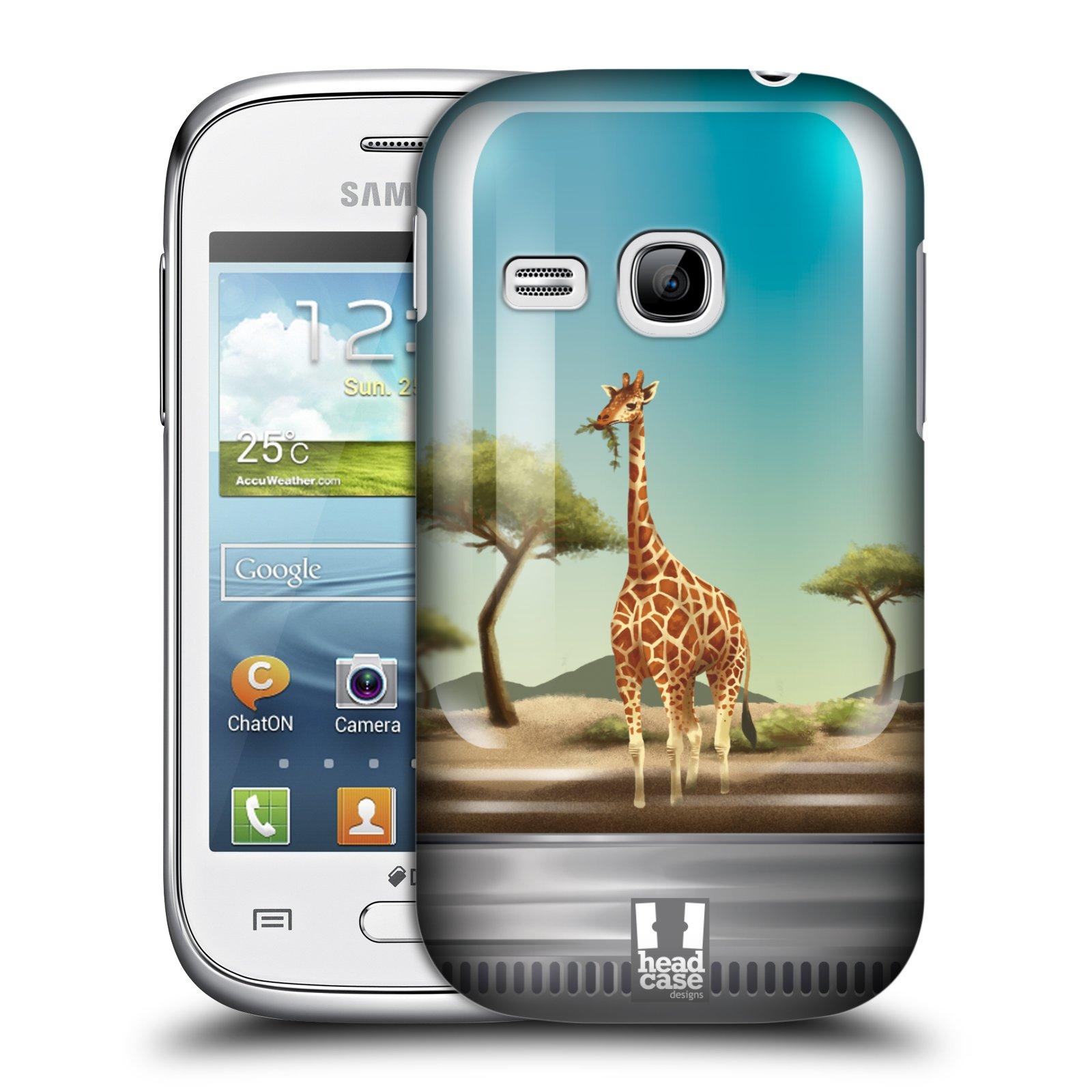 HEAD CASE plastový obal na mobil SAMSUNG Galaxy Young S6310 vzor Zvířátka v těžítku žirafa